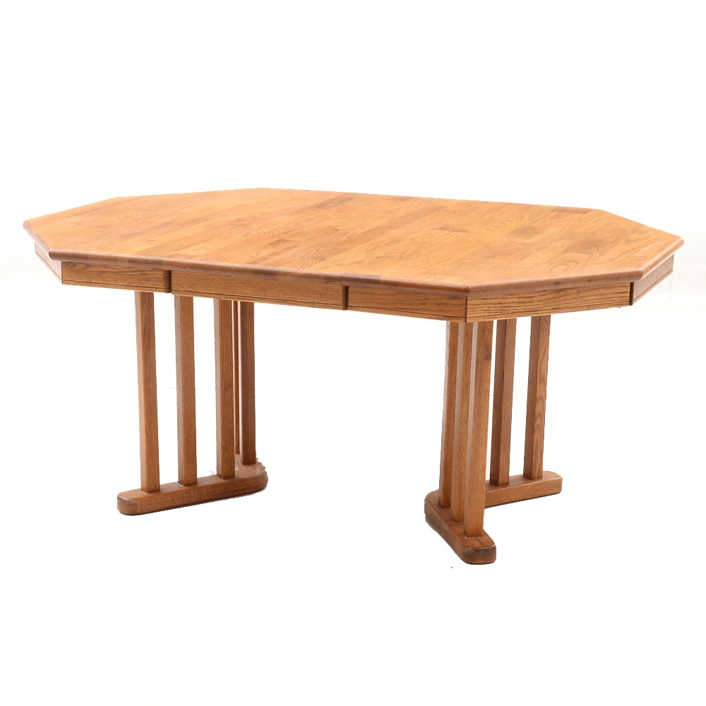 Contempoary Oak Wood Dining Table