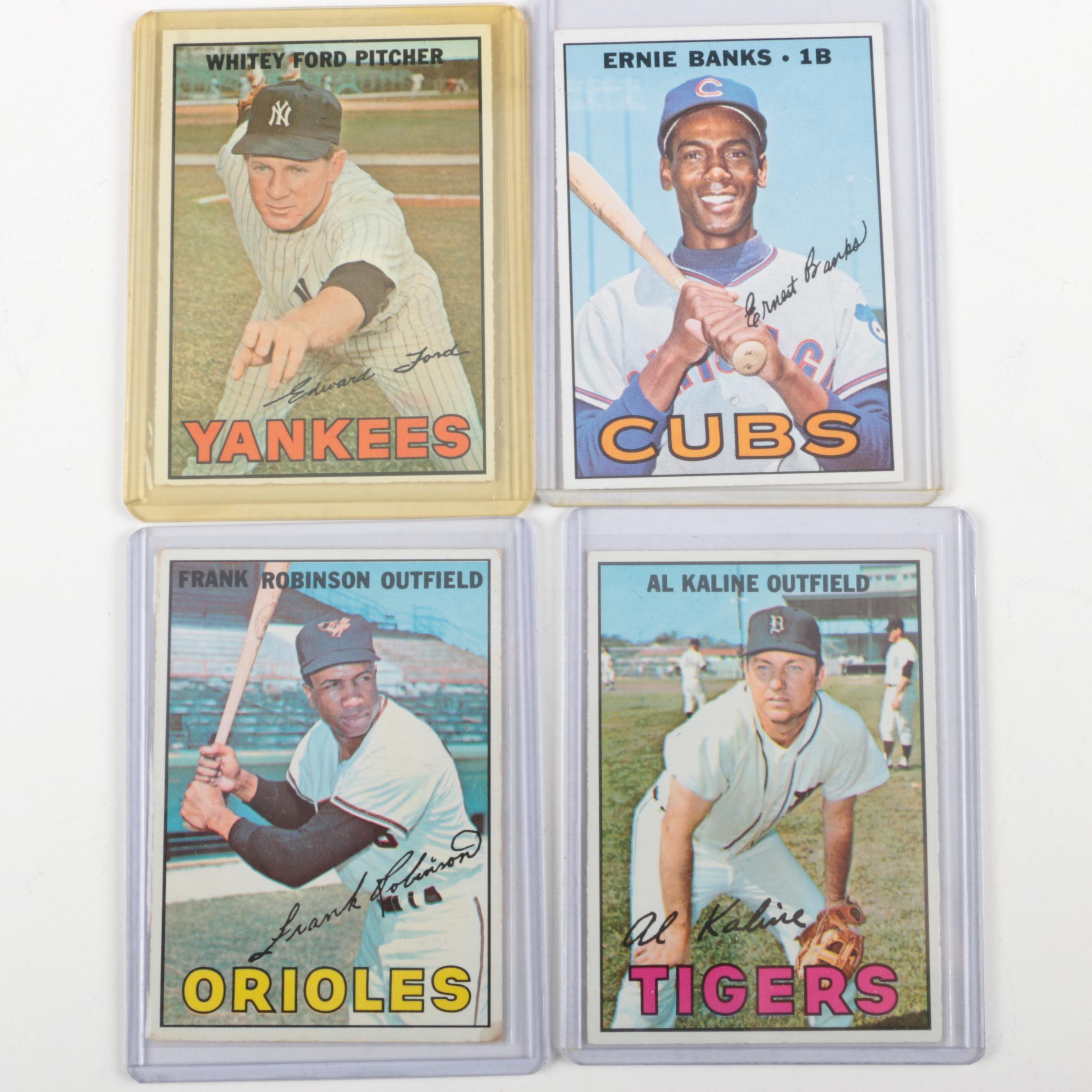 Four 1960s Baseball Cards