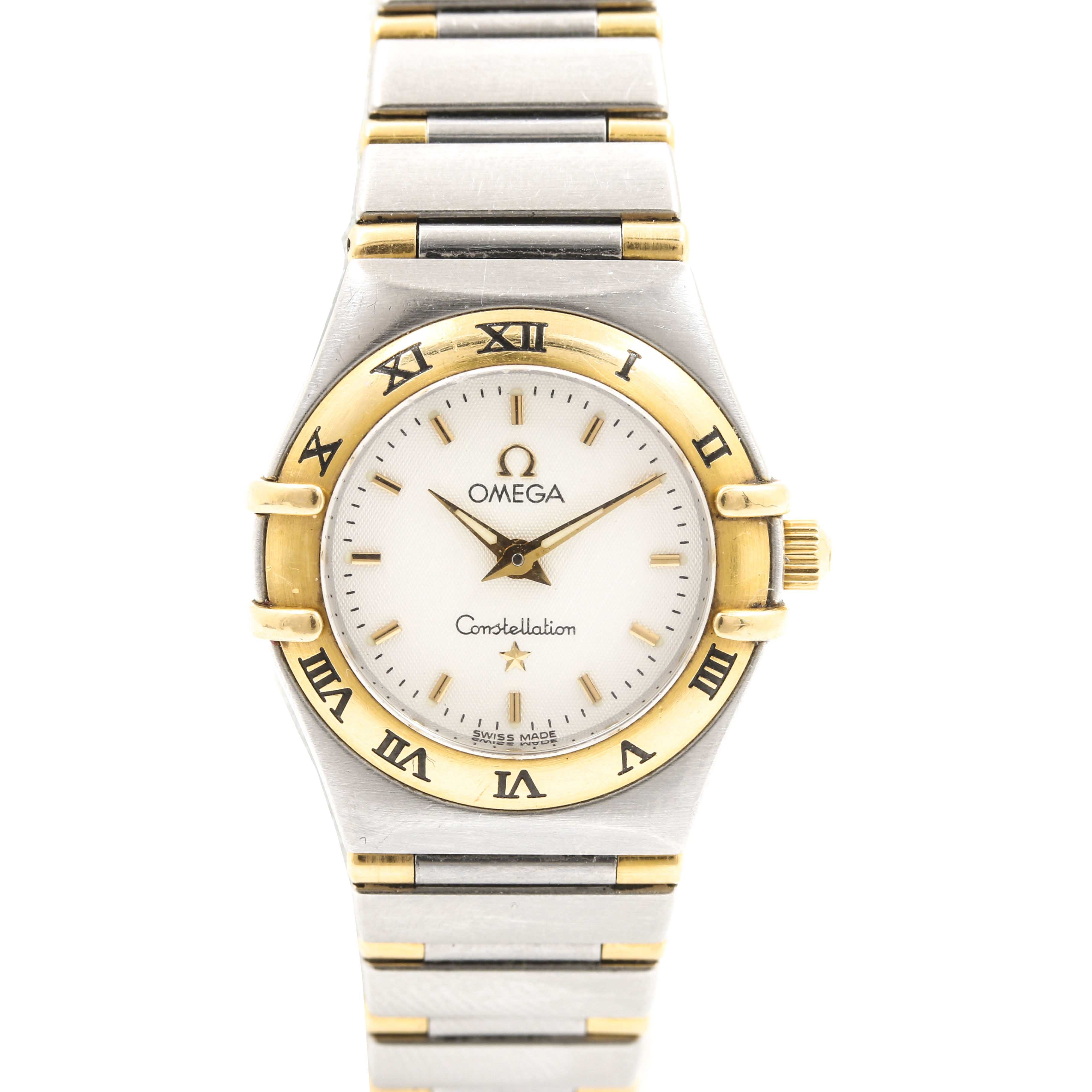 Omega Constellation 18K Yellow Gold and Stainless Steel Wristwatch