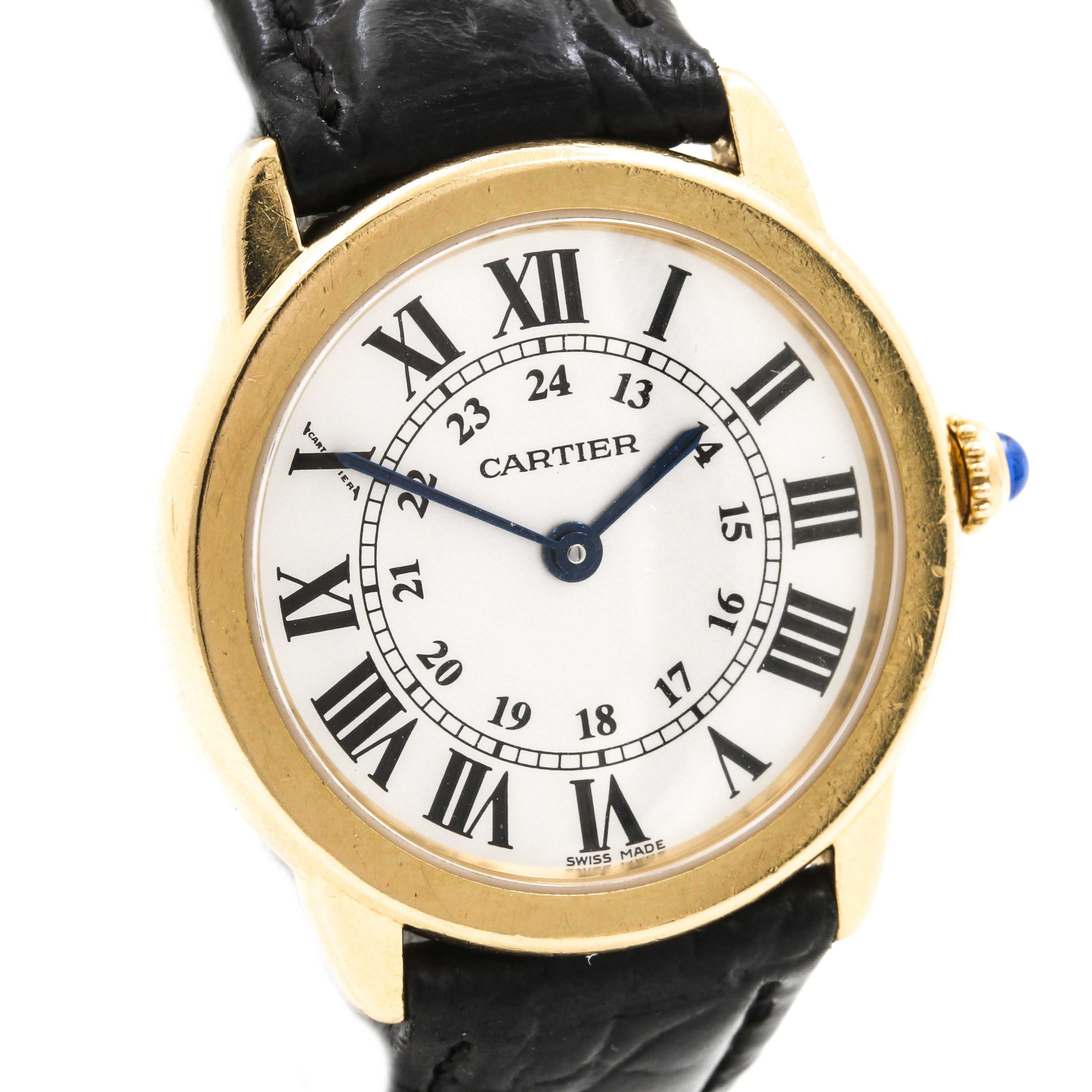 Cartier 18K Yellow Gold and Stainless Steel Analog Wristwatch