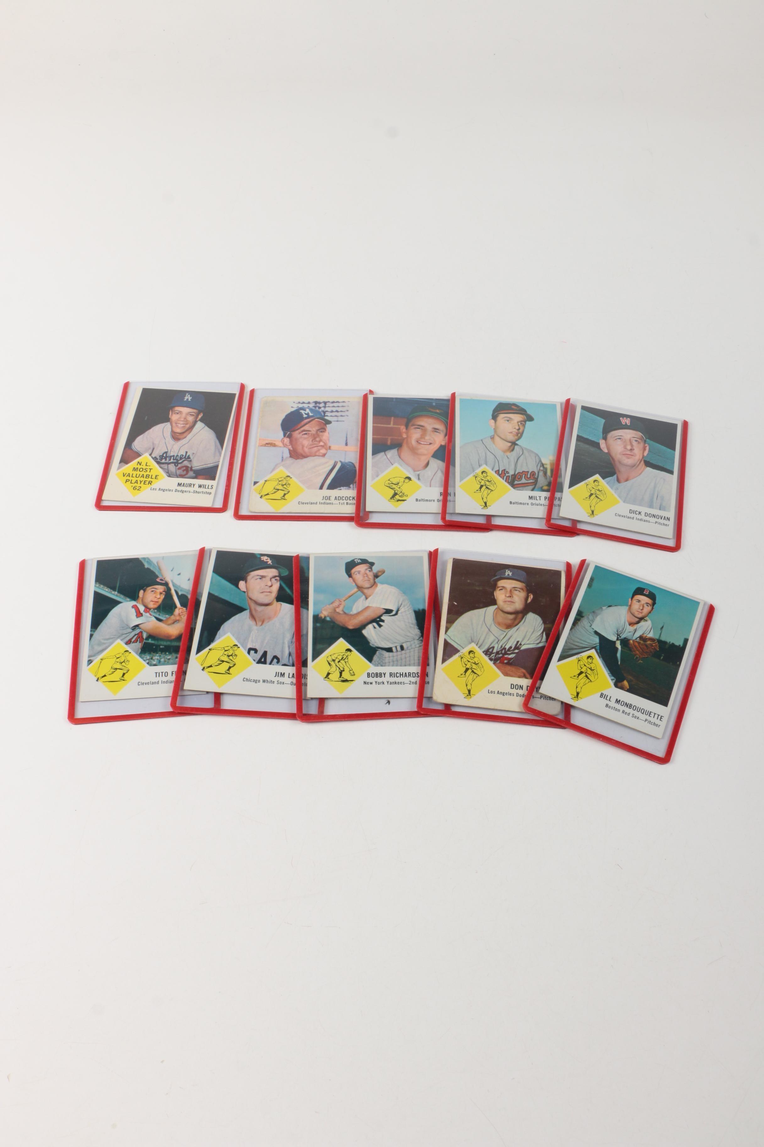 Fleer Baseball Cards From 1963