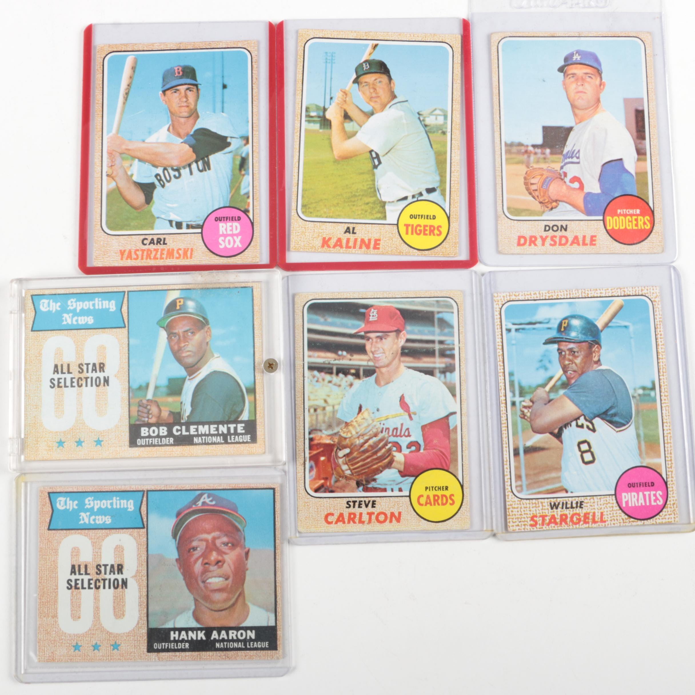 Collection of Baseball Cards from the 1960s