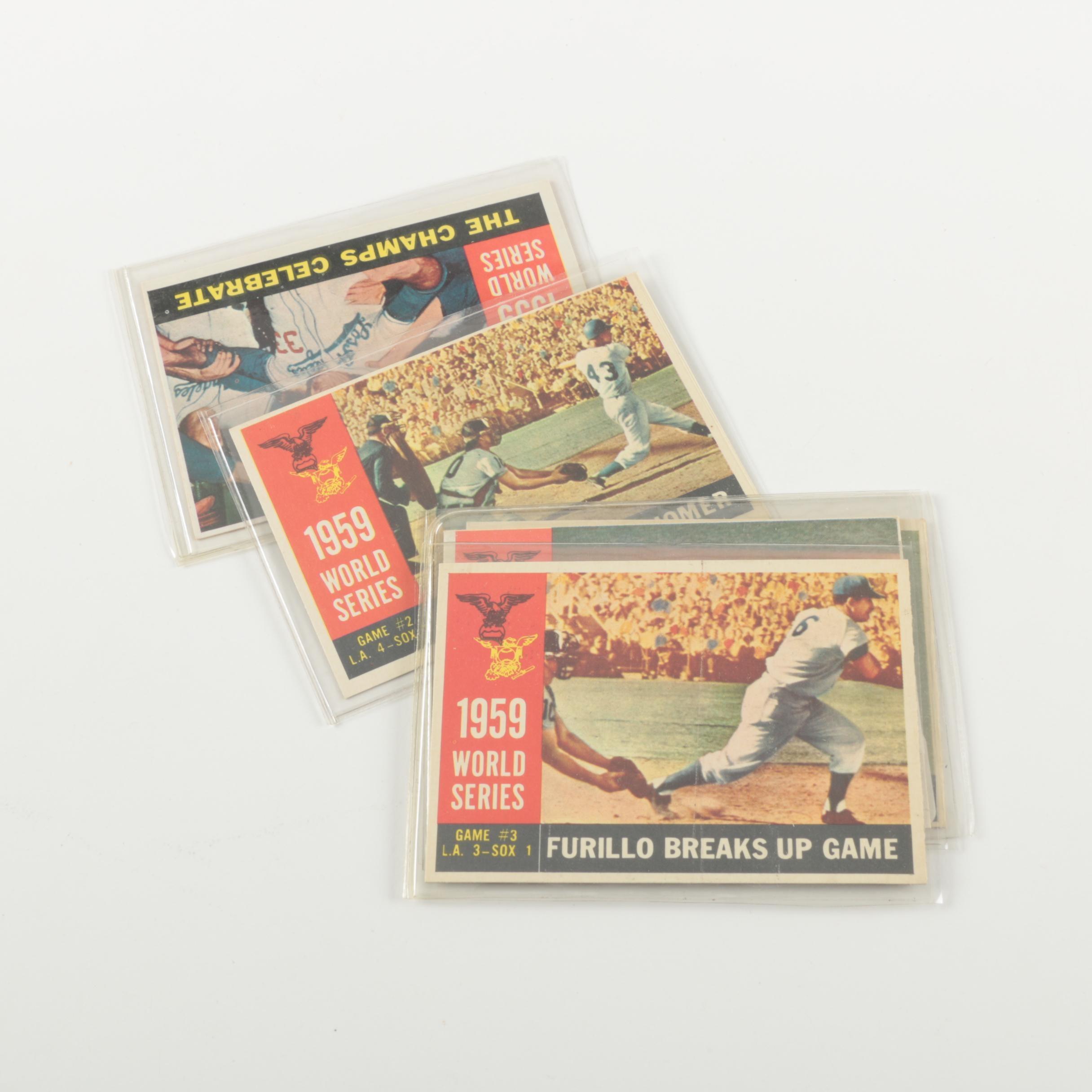 1960 Topps 1959 World Series Baseball Cards