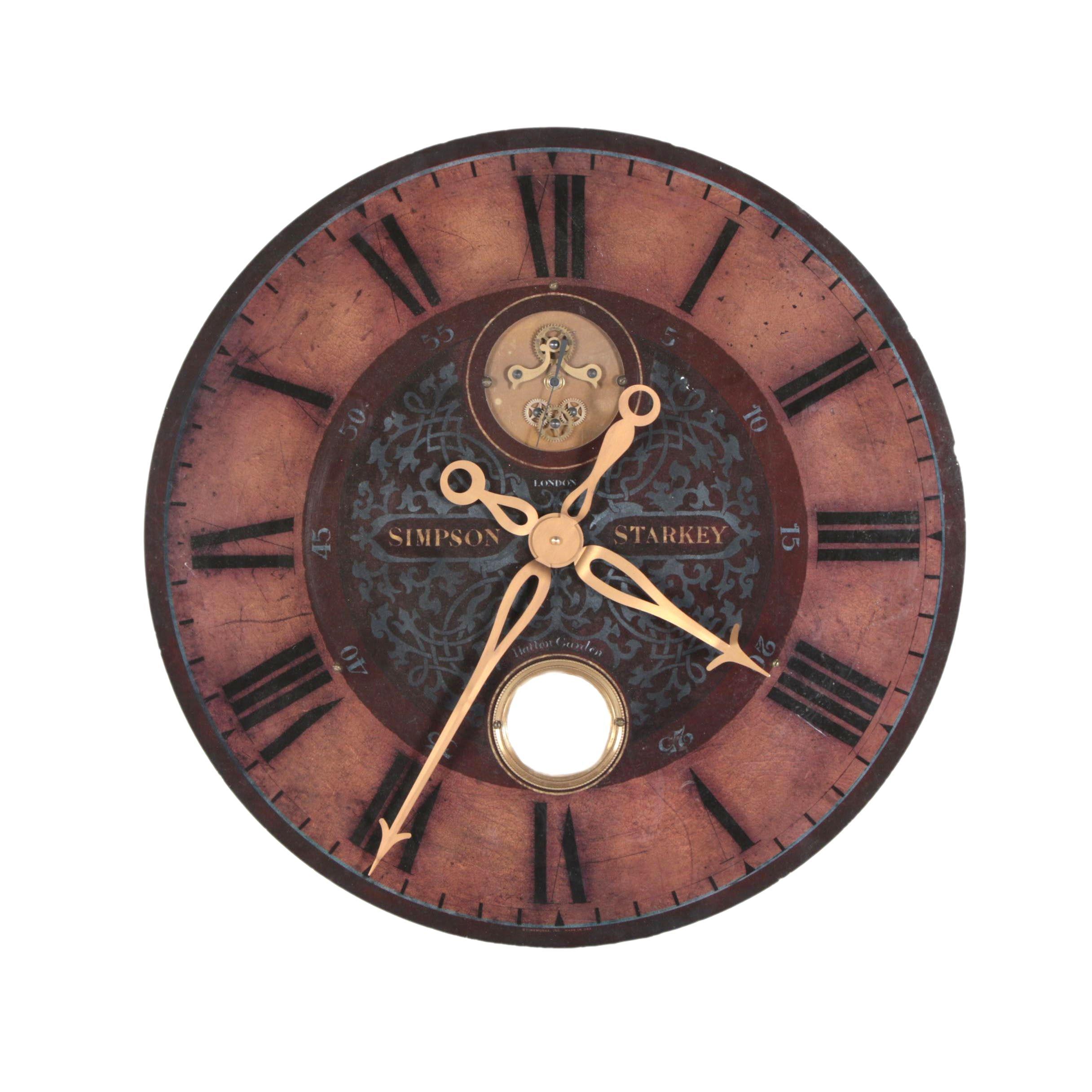 Vintage Style Simpson Starkey Authentic Timeworks Wall Clock