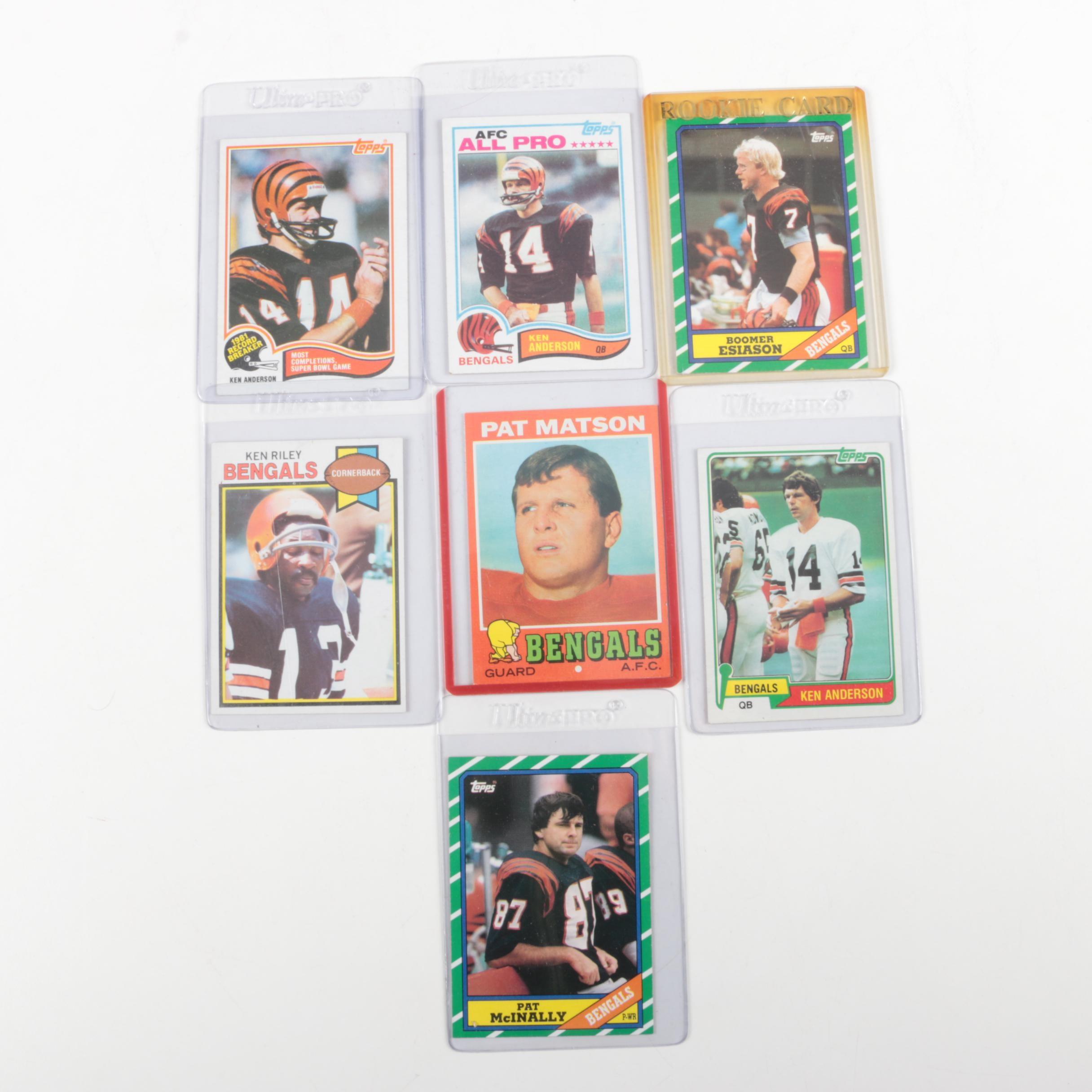 Assorted Topps Football Cards featuring Cincinnati Bengals Players