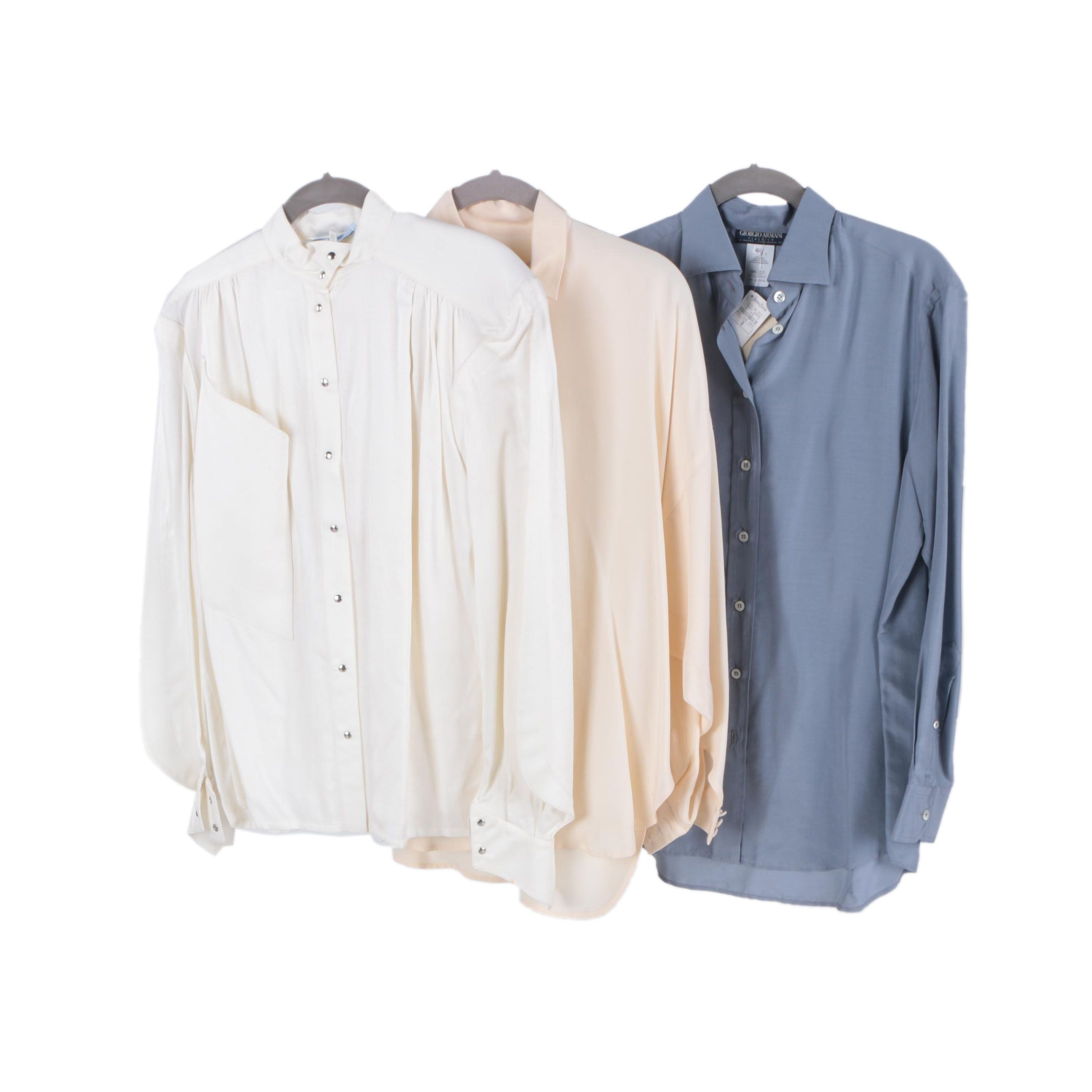 Assortment of Shirts Including Armani and Thierry Mugler