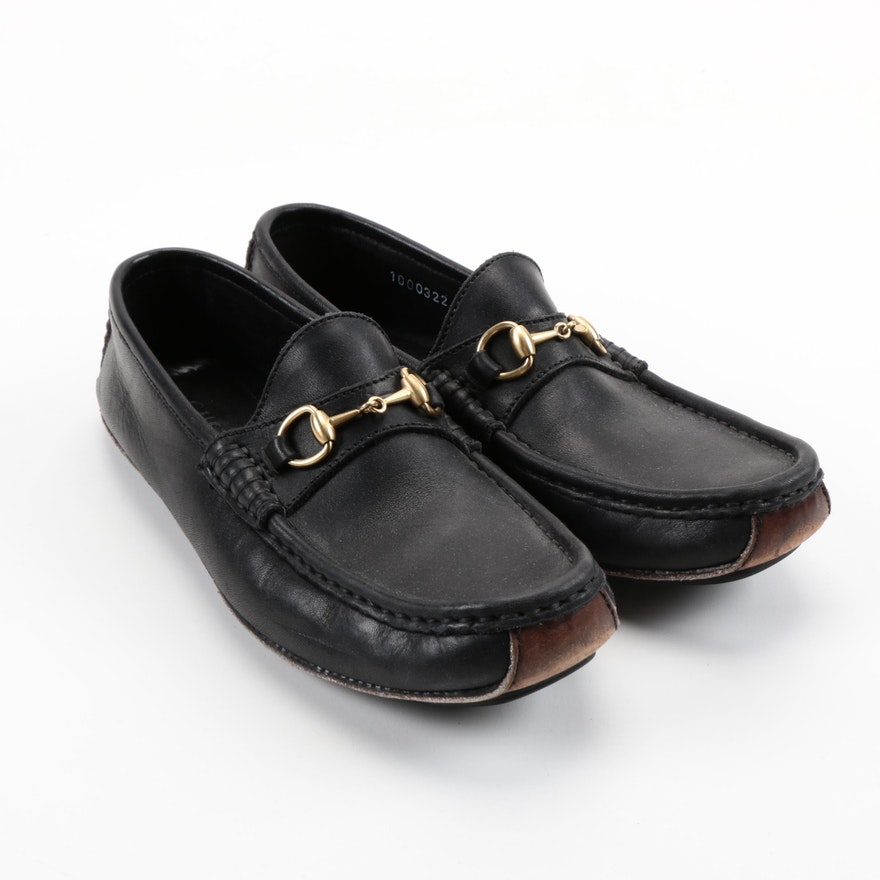 ec83f5d17 Women's Gucci Black Leather Loafers : EBTH