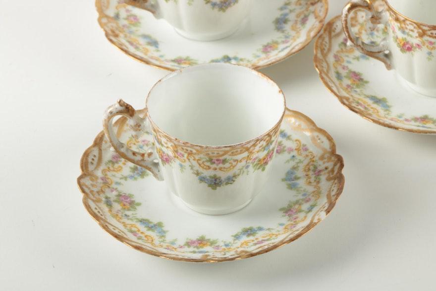 lazarus strauss sons limoges porcelain teacup and saucer. Black Bedroom Furniture Sets. Home Design Ideas