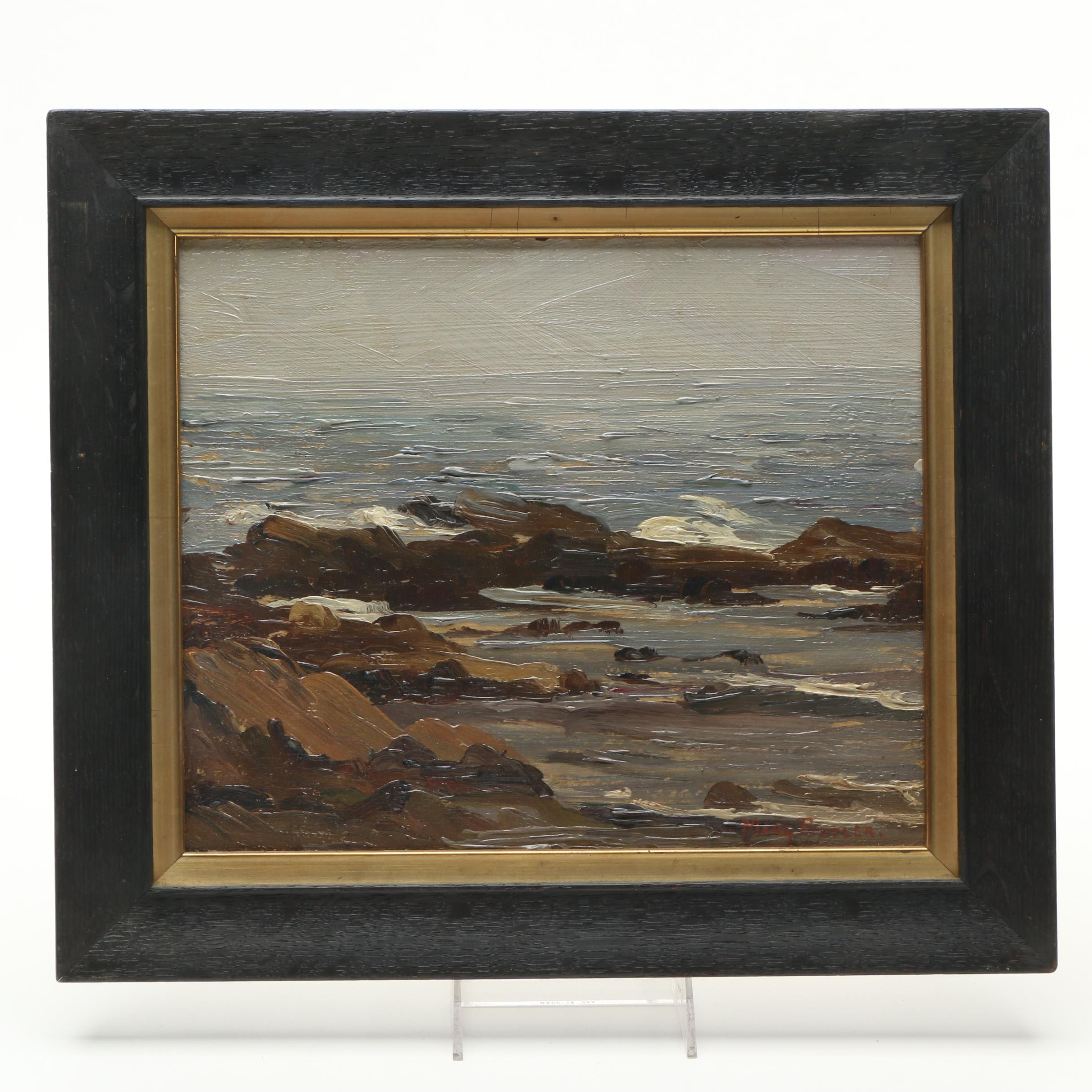 Mary Butler Oil Painting of a Waterfront Landscape