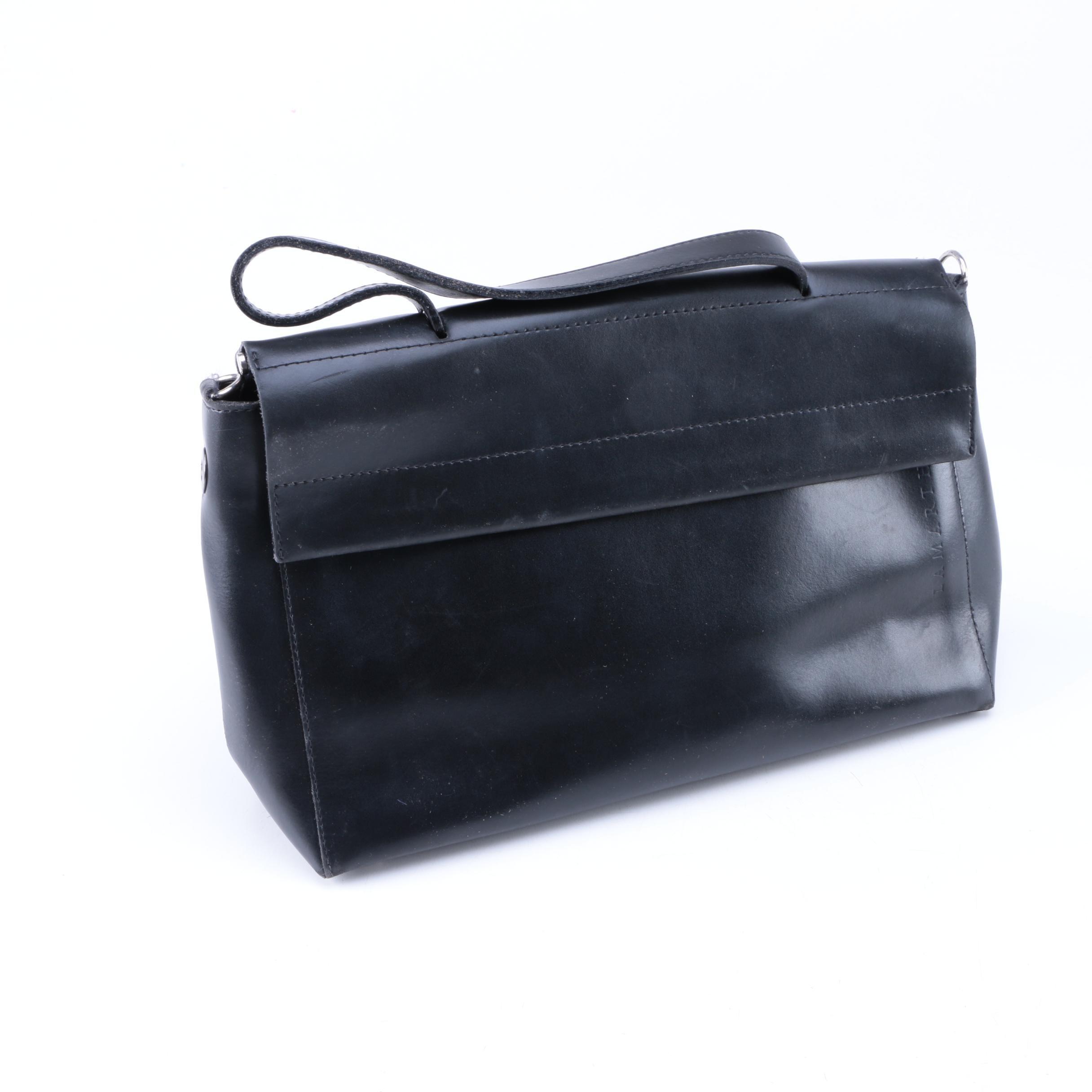 Lamarthe Black Leather Handbag
