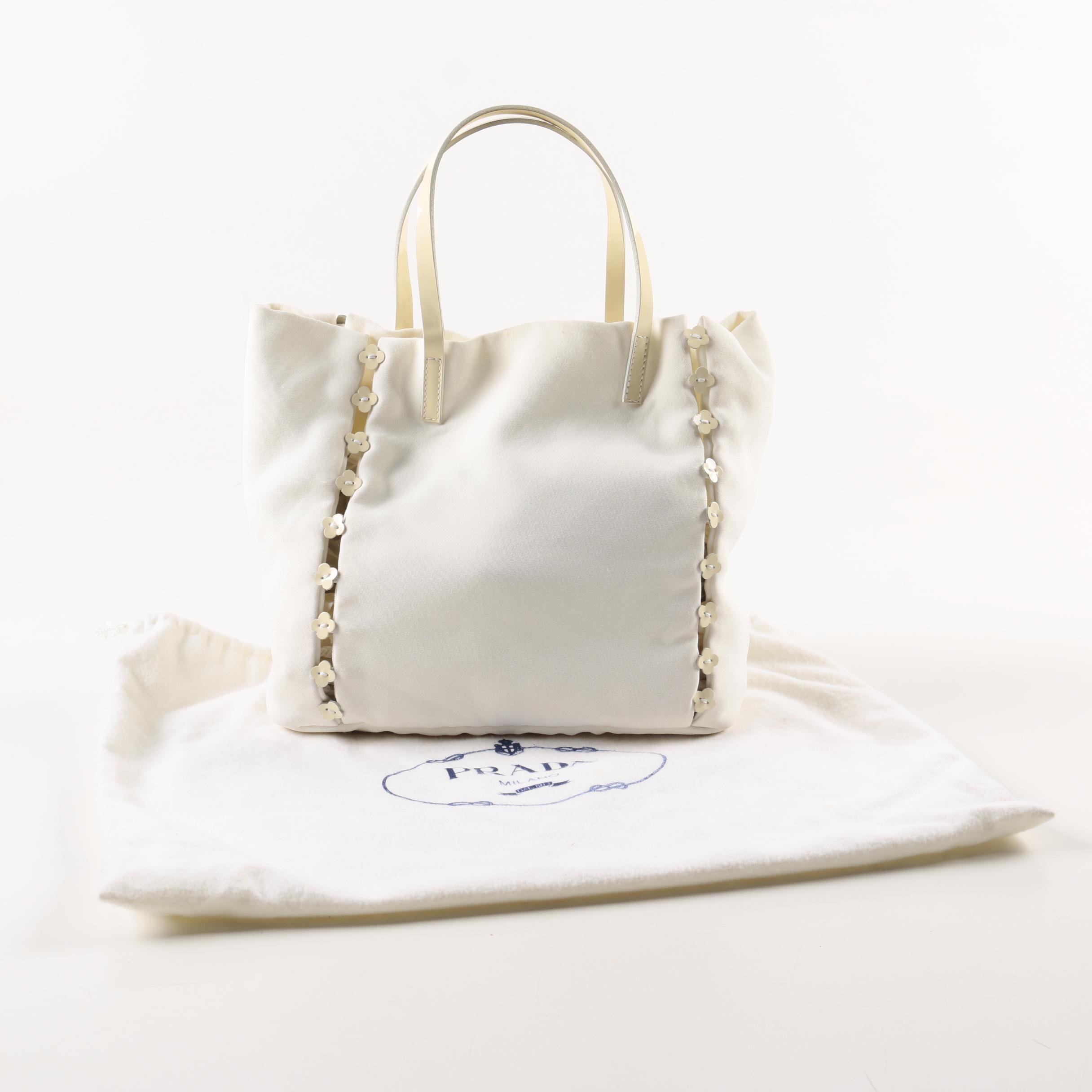 Prada Floral Tote Bag