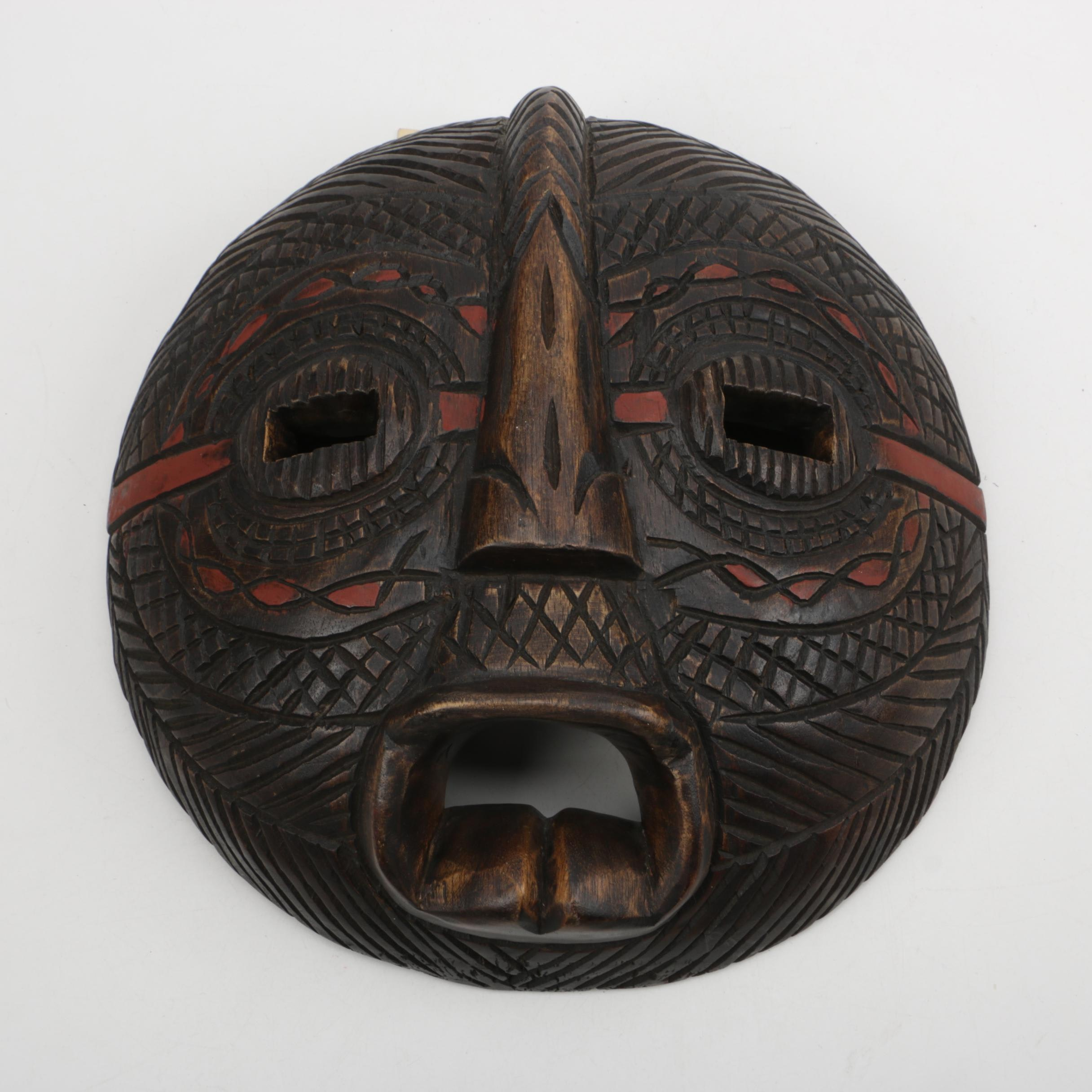 Carved Wood Hausa Mask From Ghana