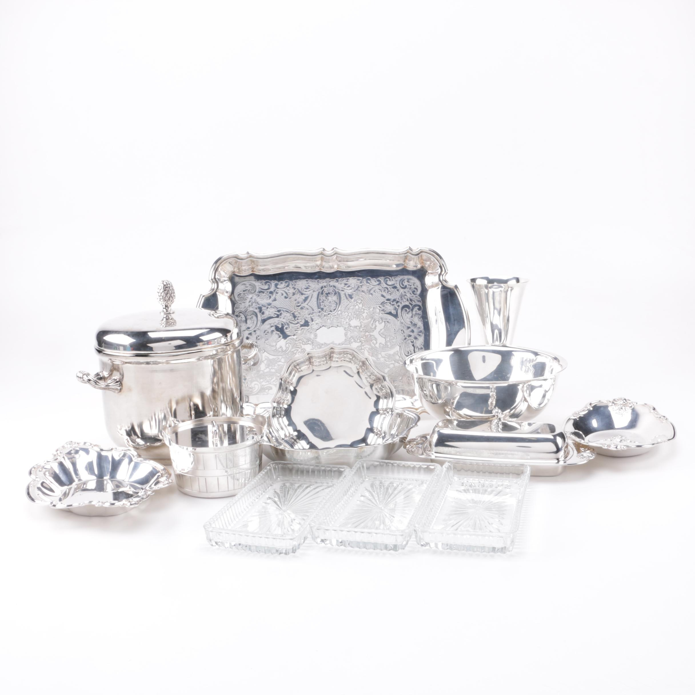 Mixed Collection of Silver Plate Servingware Including Gorham