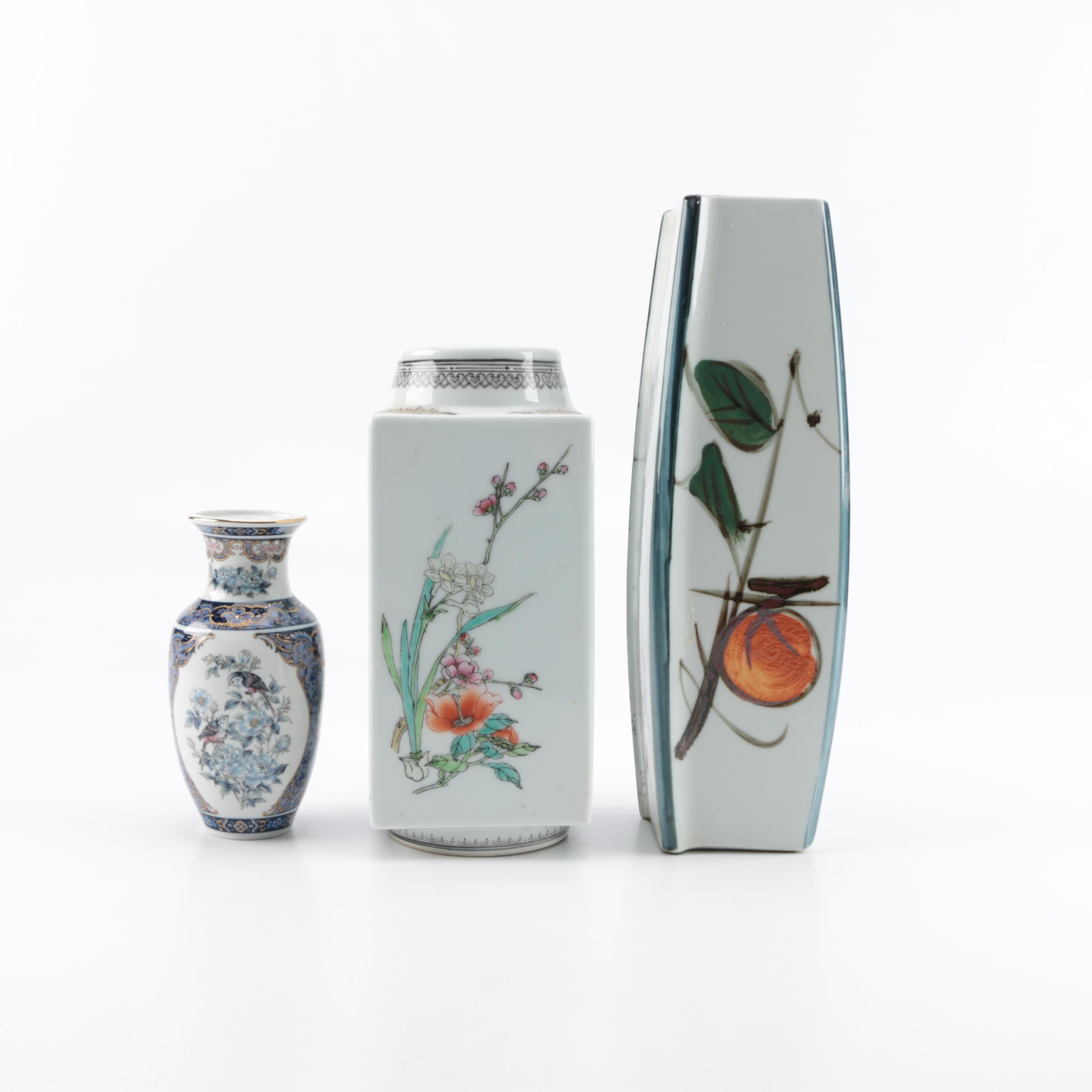Selection of Three Porcelain Asian  Vases