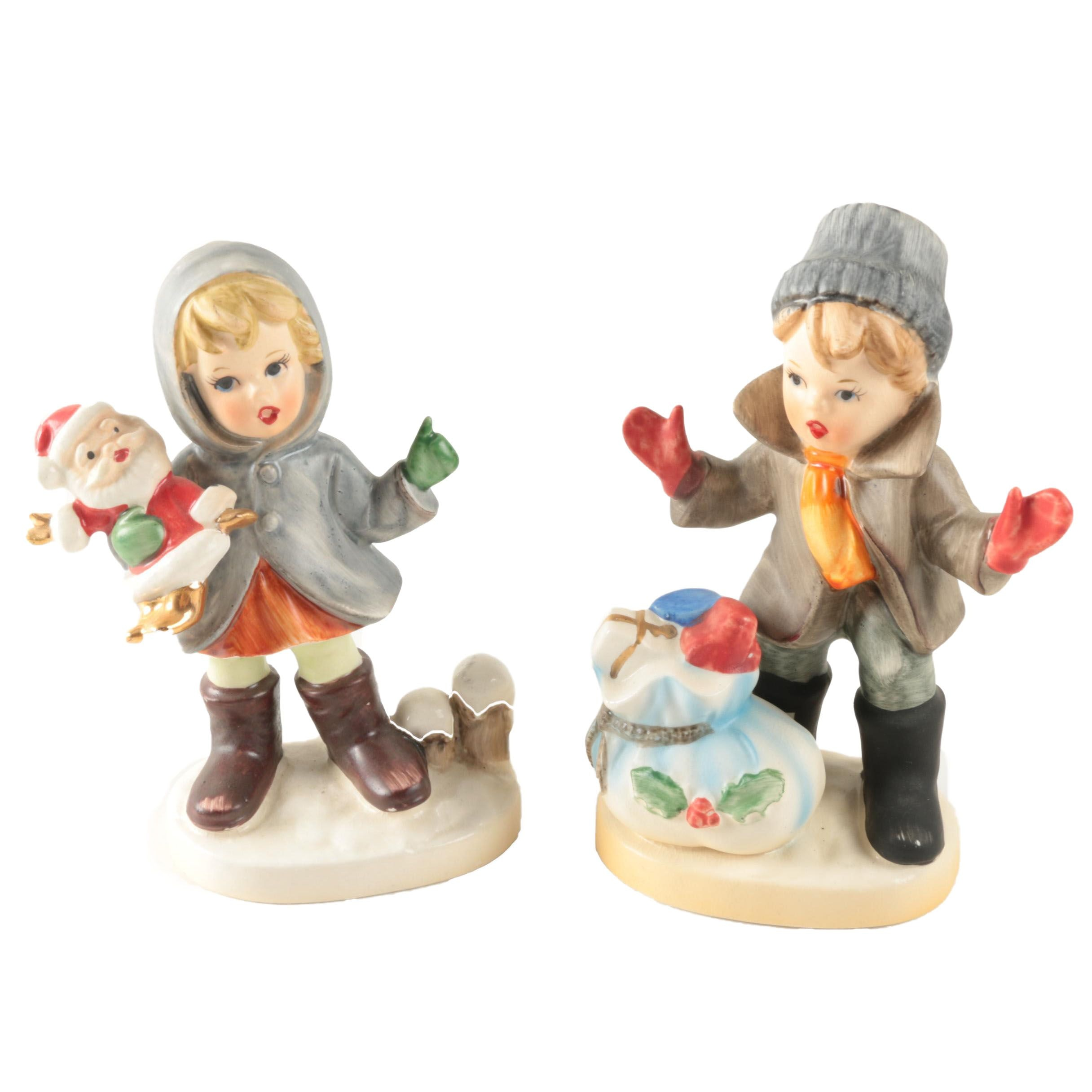 Pair of Napcoware Holiday Figurines