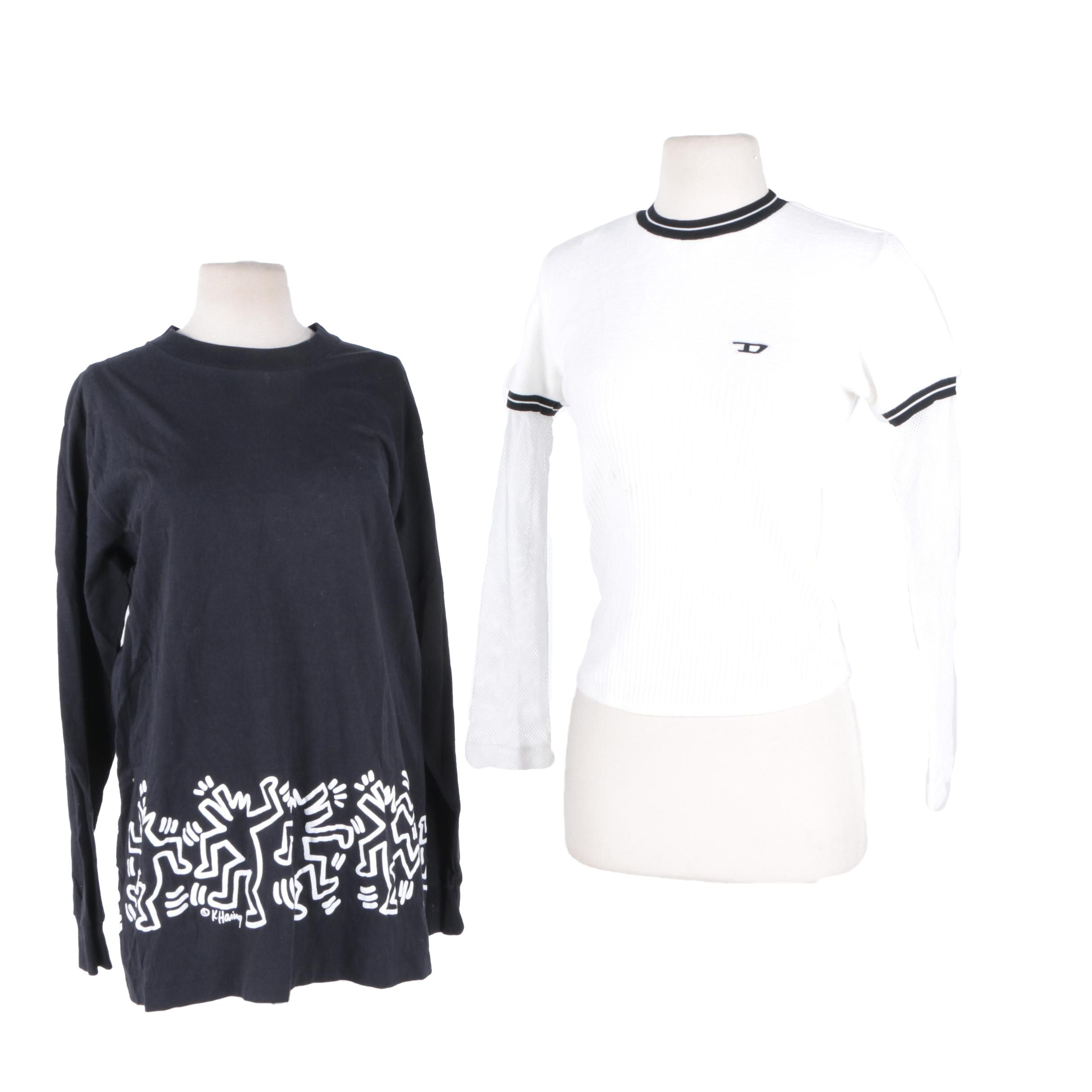 Women's Clothes Featuring a Keith Haring Designed Tee Shirt