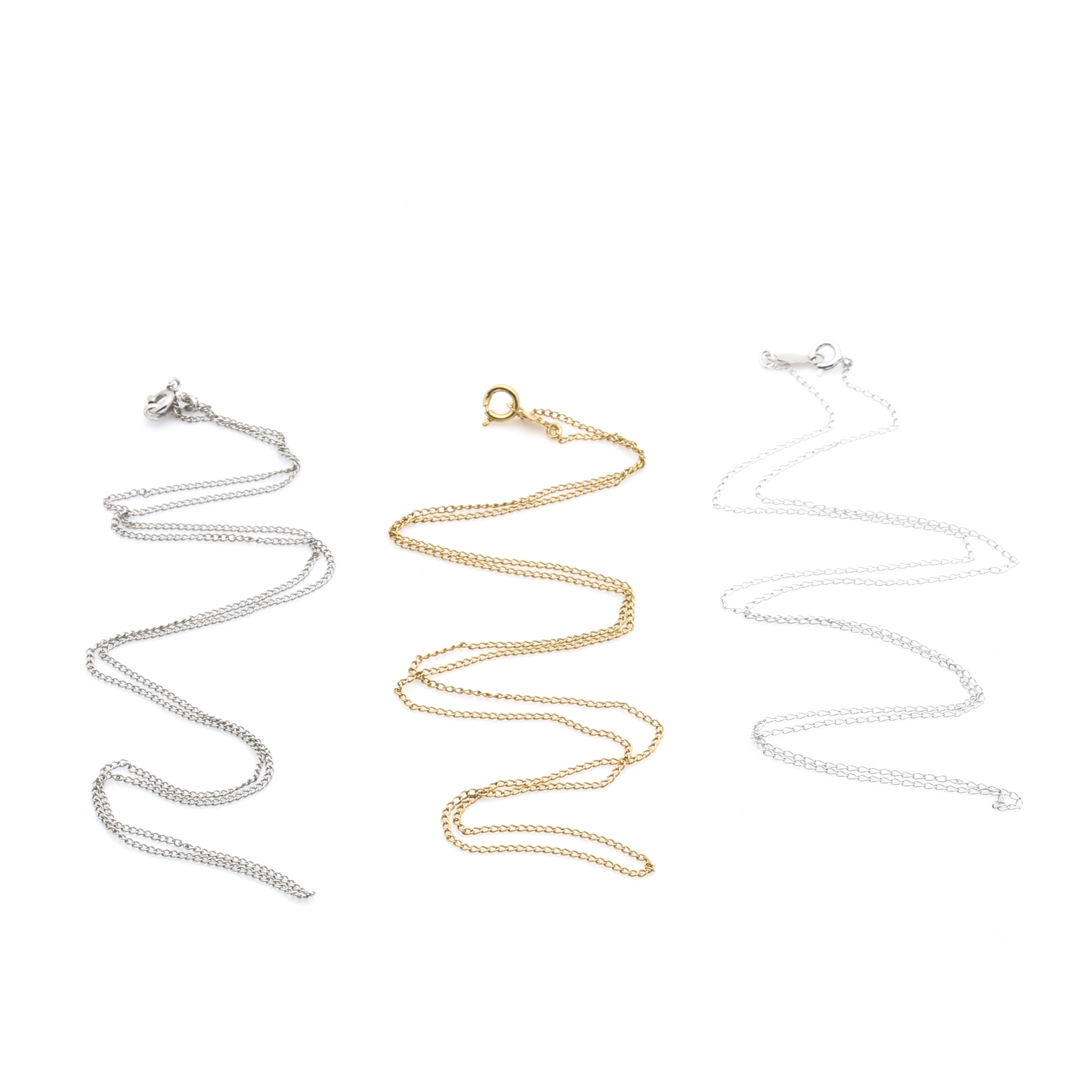 Assortment of 10K White and Yellow Gold Necklaces