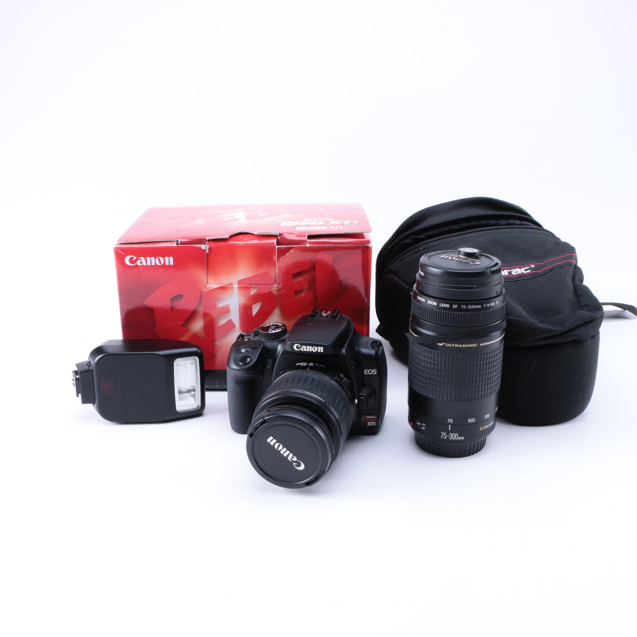 Canon EOS Digital Rebel XTi with Camera Case and Accessories