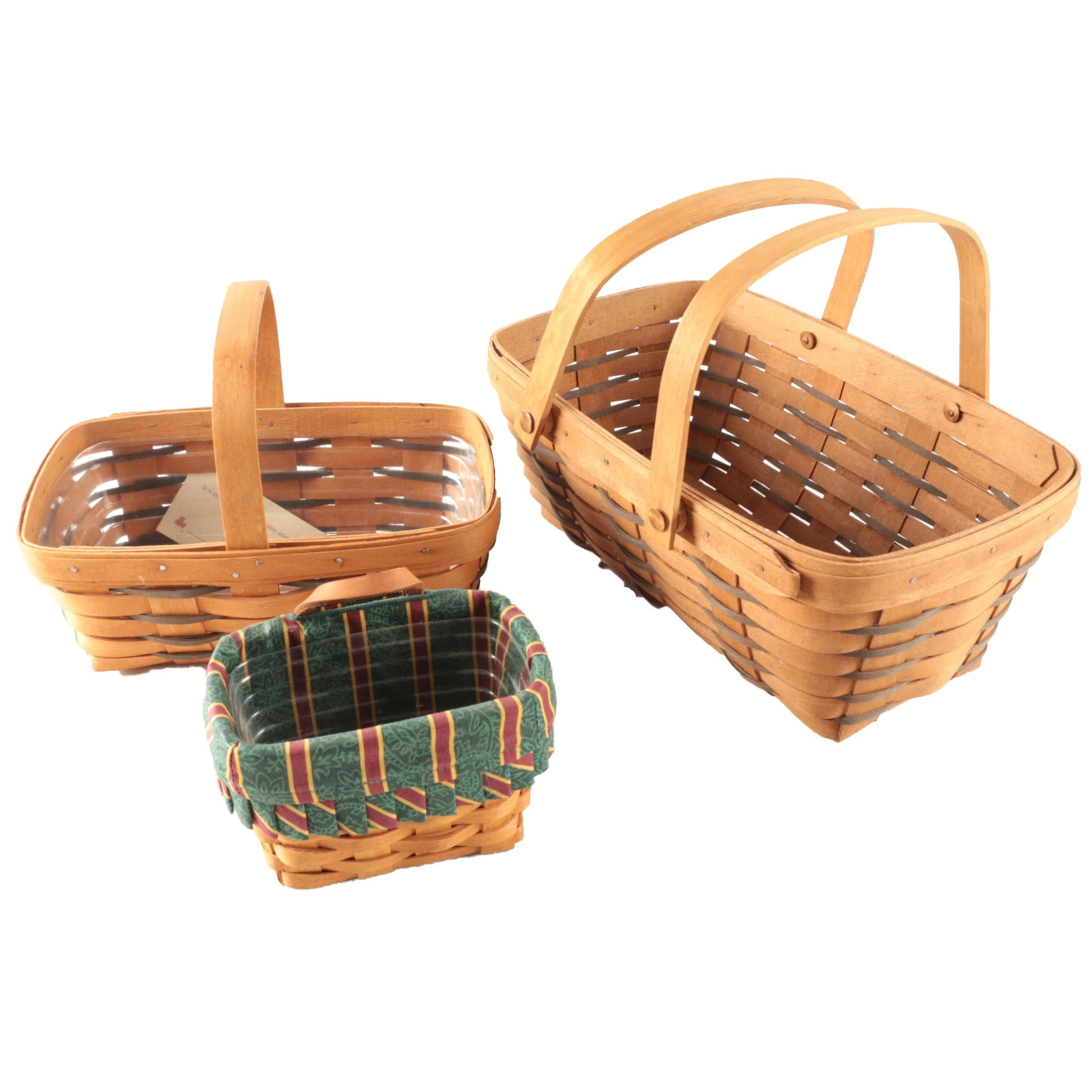 Selection of Longaberger Baskets