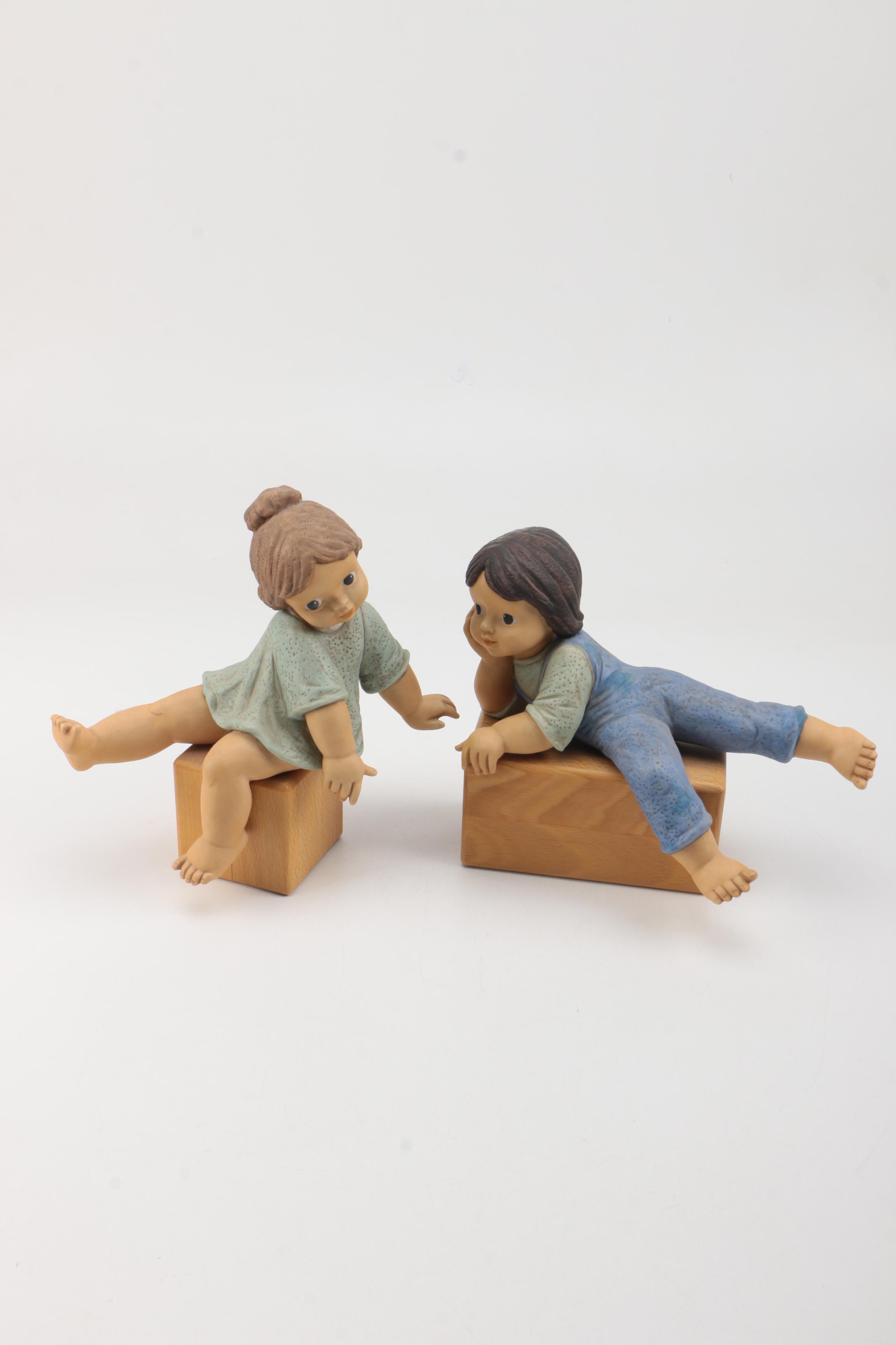 "Hummel and Goebel ""Nina"" and ""Marco"" Figurines by Limpke"