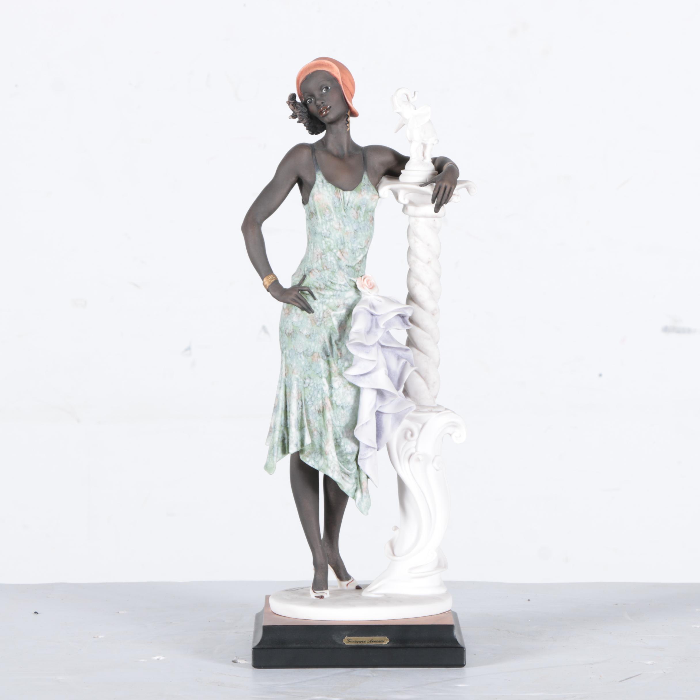 "Giuseppe Armani for Nippon ""Mahogany"" Flapper Figurine"