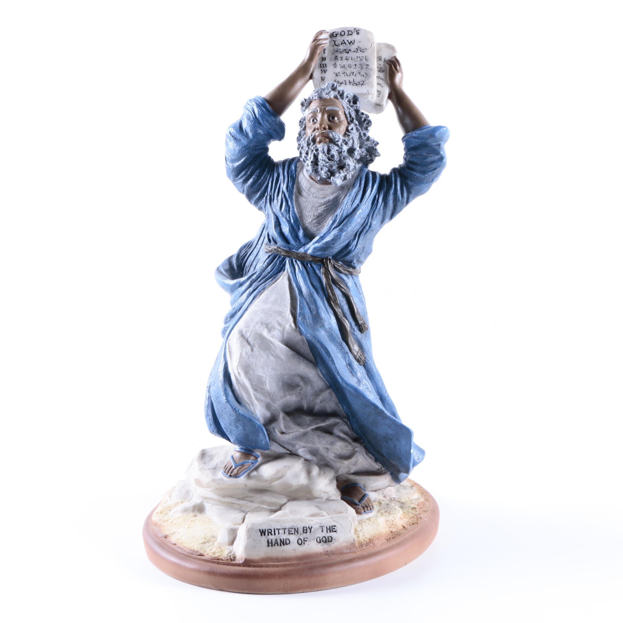 Moses Ten Commandments Resin Figurine