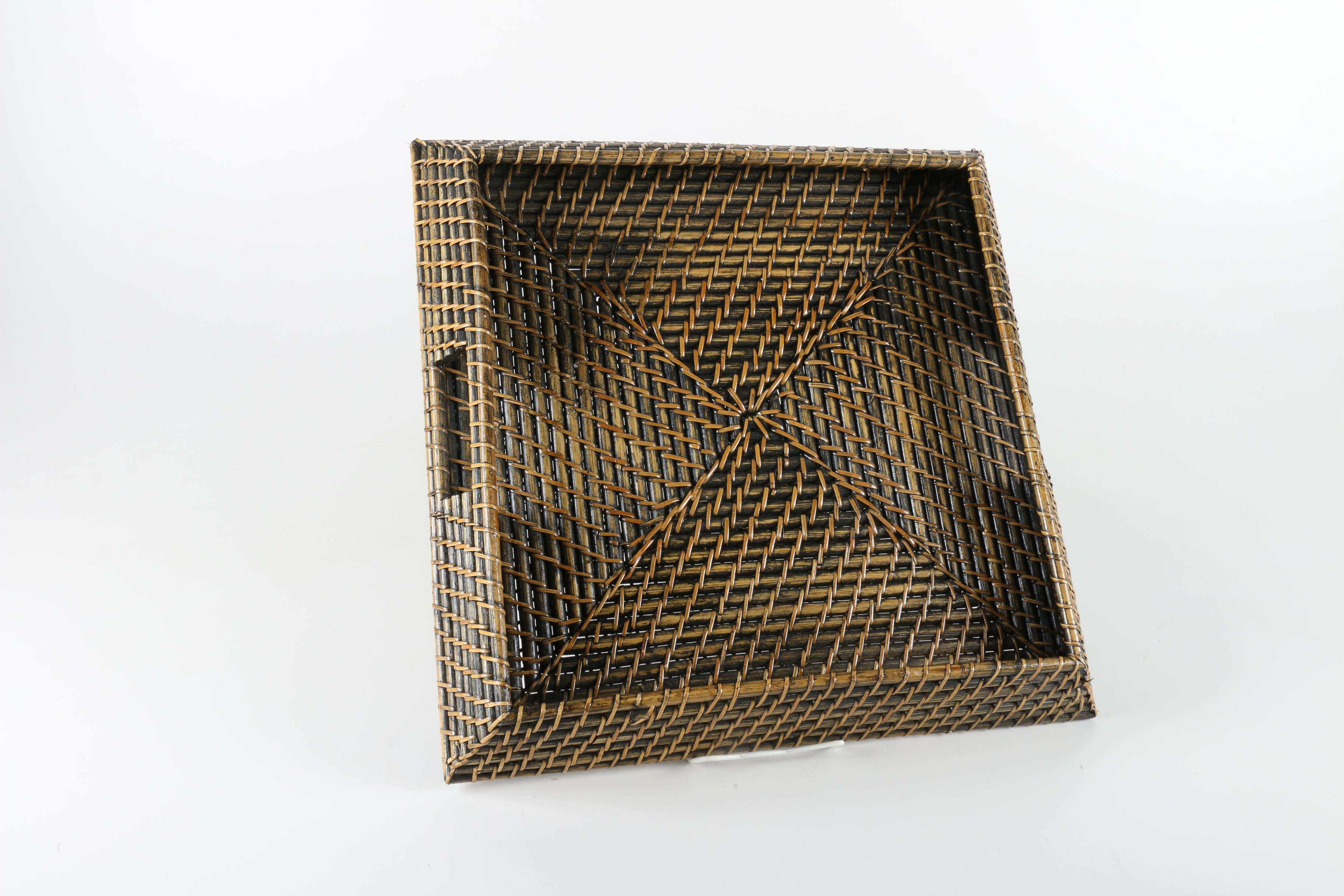Woven Wooden Serving Tray