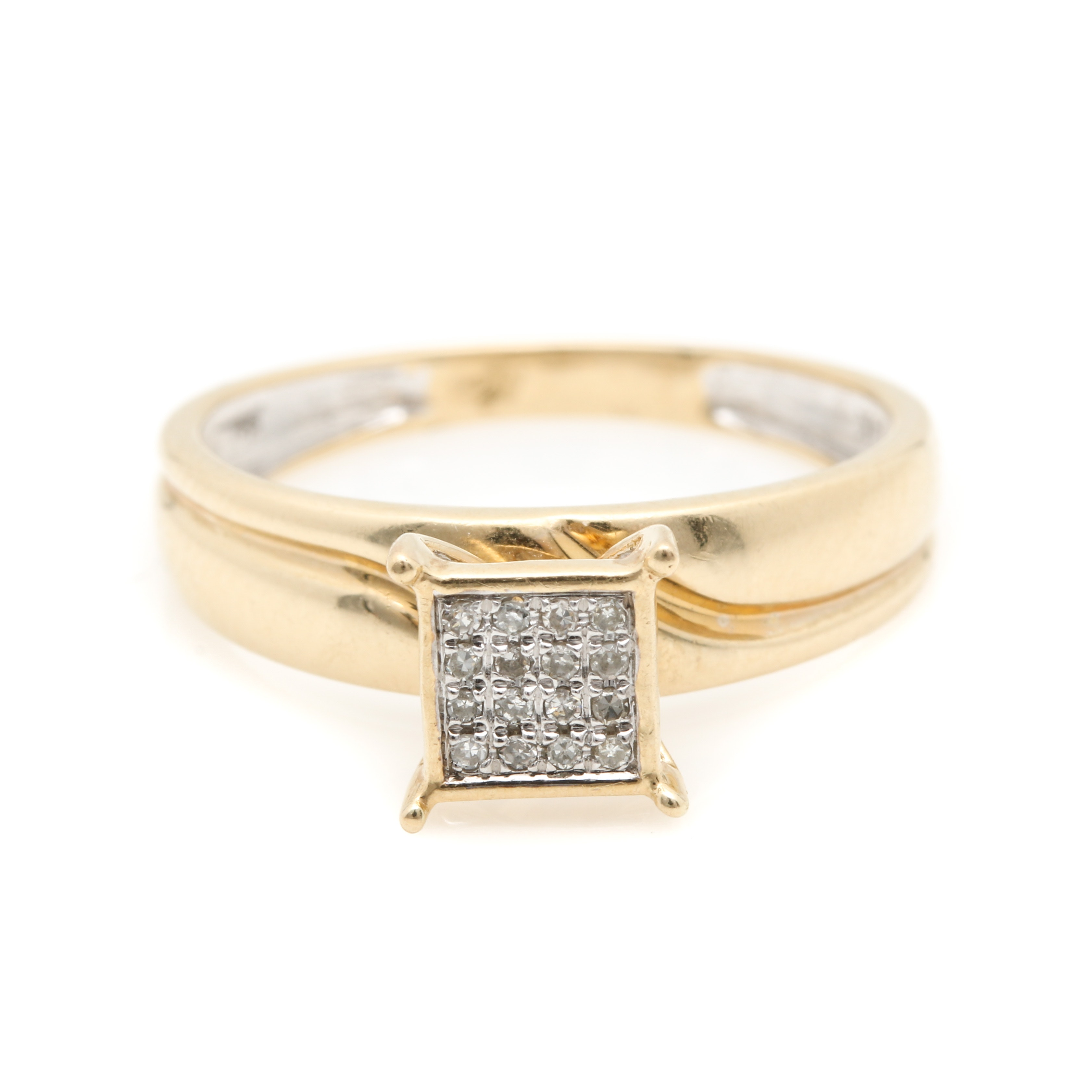 Shy Creations 14K Yellow Gold and Diamond Ring