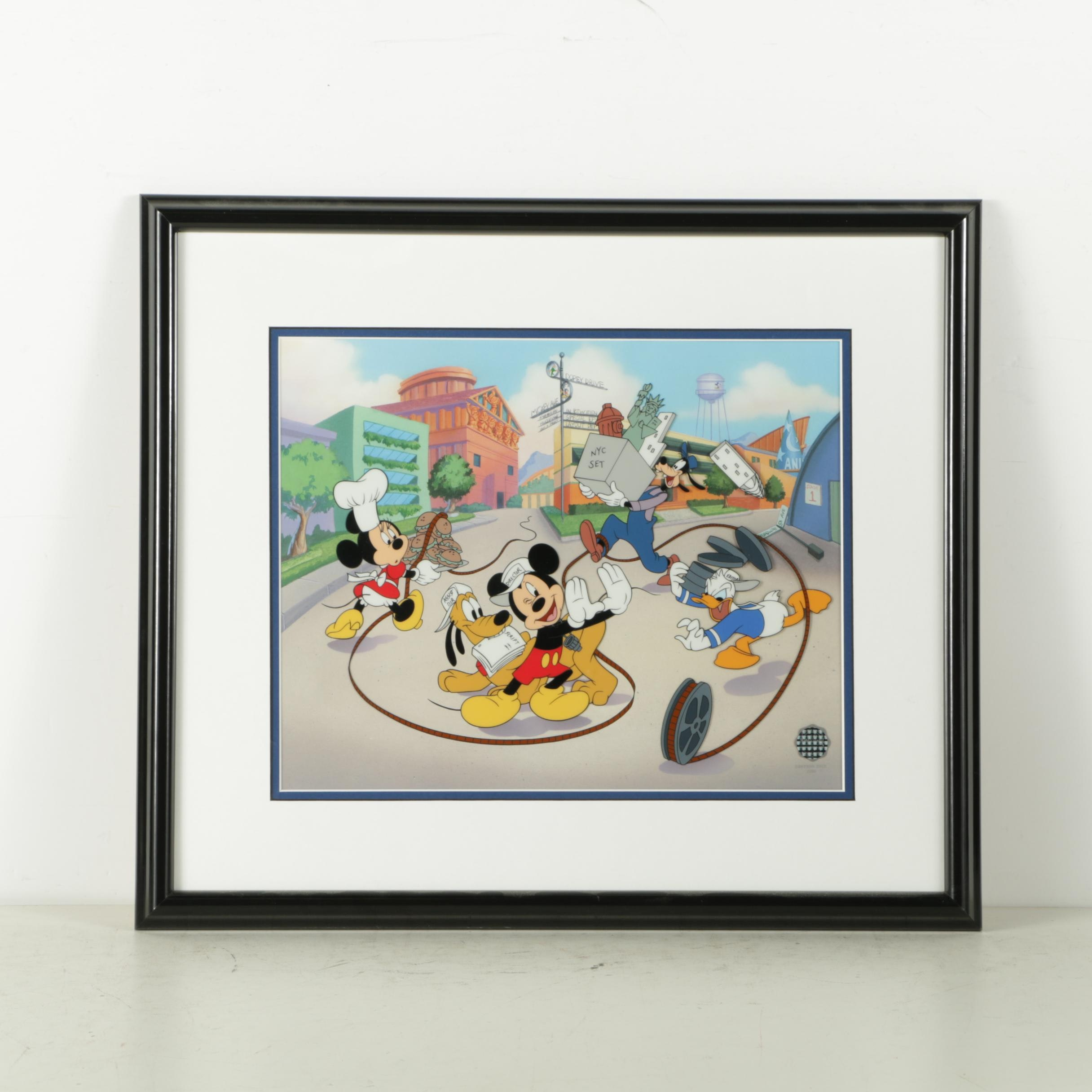 """Disney Limited Edition Sericel """"Movie Magic with the Fab Five"""""""