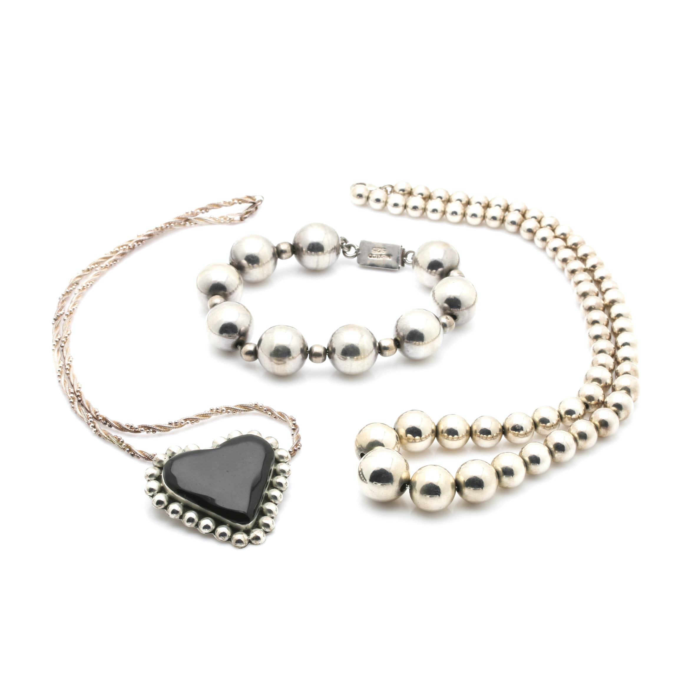Sterling Silver Bracelet and Necklaces