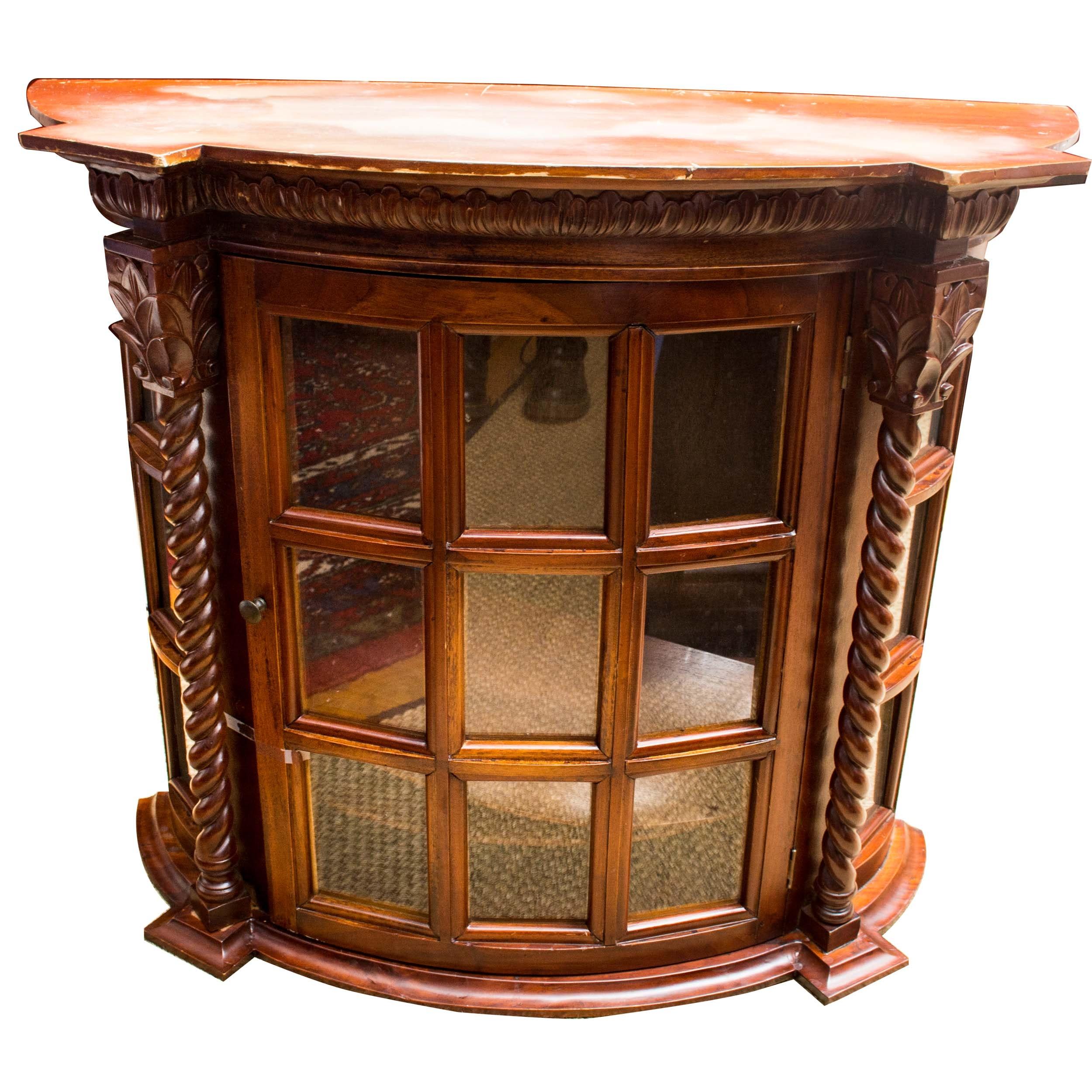 Mahogany and Glass Curio Cabinet
