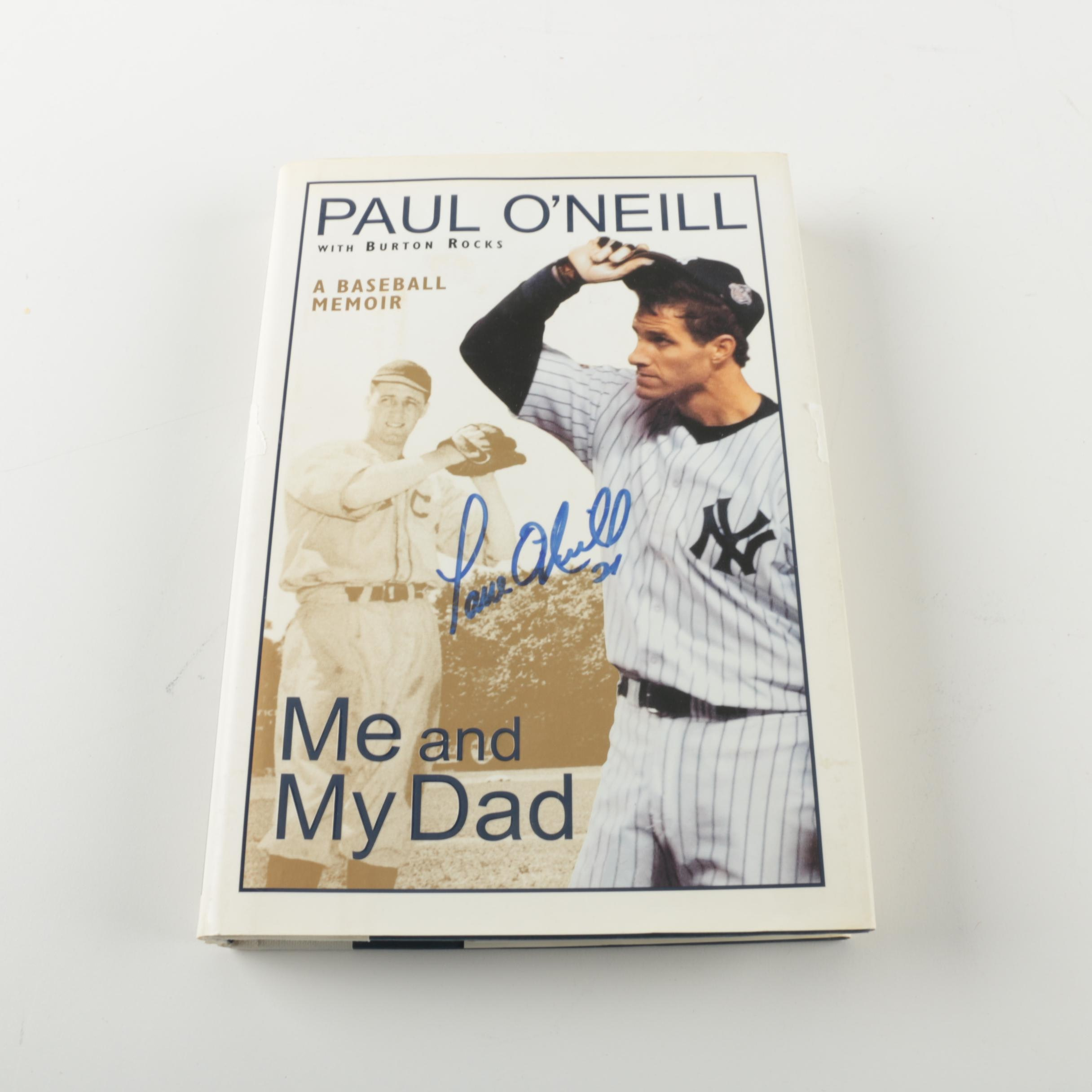 "Paul O'Neill Signed Book ""Me and My Dad"""