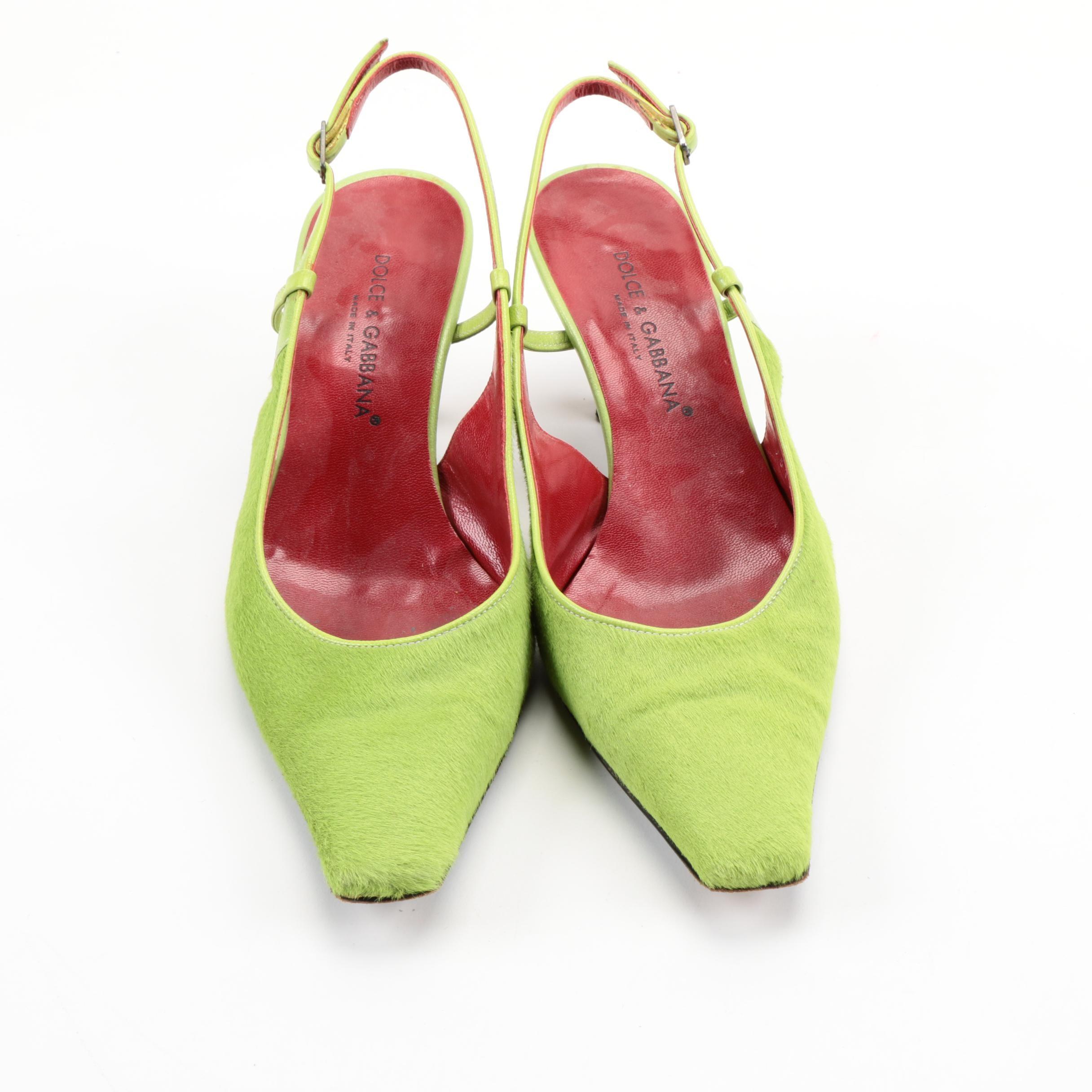 Dolce & Gabbana Pony Hair Heels