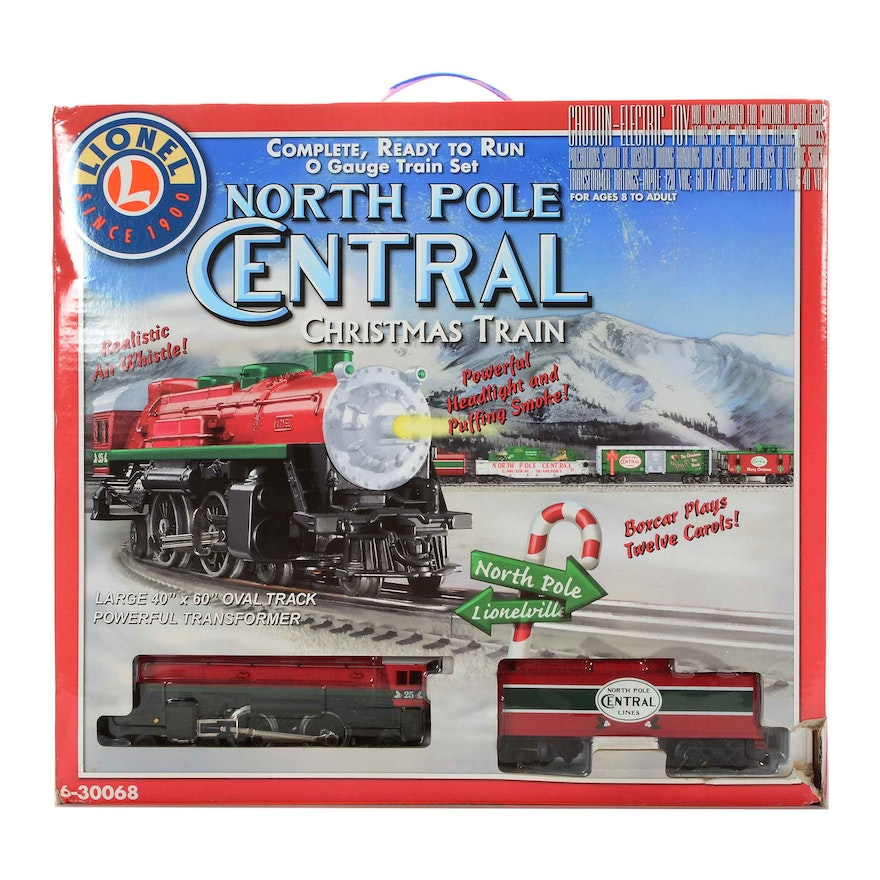 lionel north pole central christmas train in o gauge