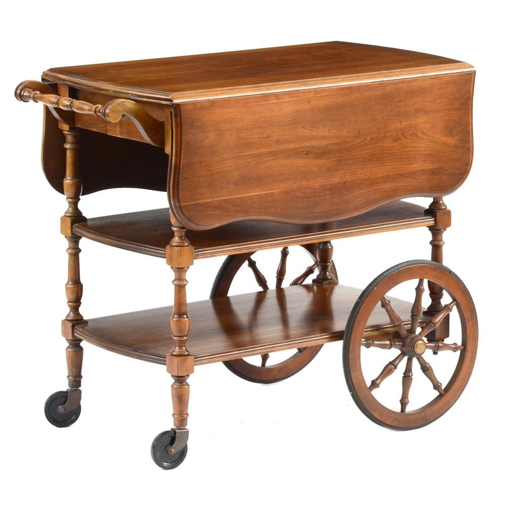 Walnut Rolling Tea Cart