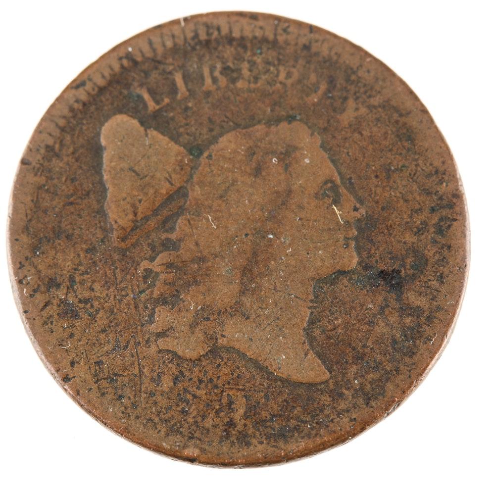 1795 'No Pole' Plain Edge Half-Cent