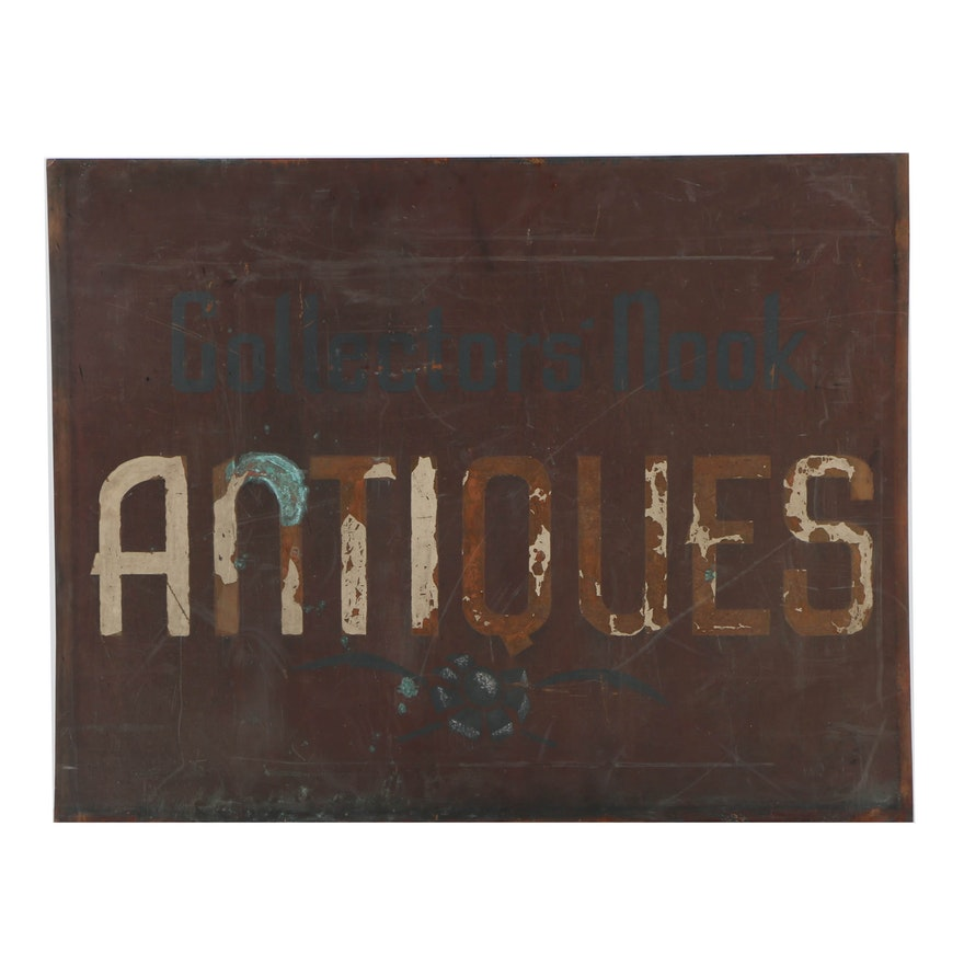 Copper Sheet Sign