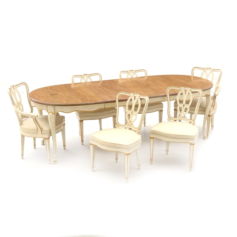 French Provincial Dining Set By John Widdicomb