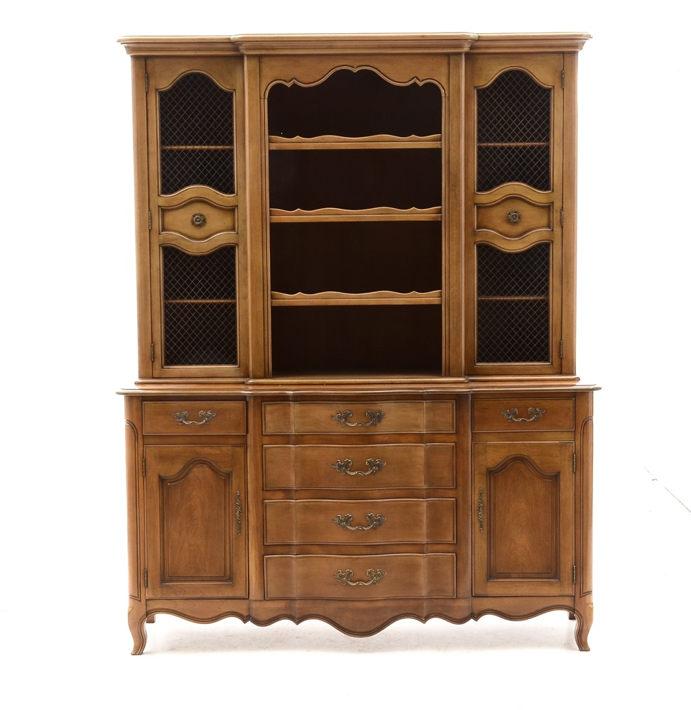 French Provincial Buffet With Hutch By Fancher