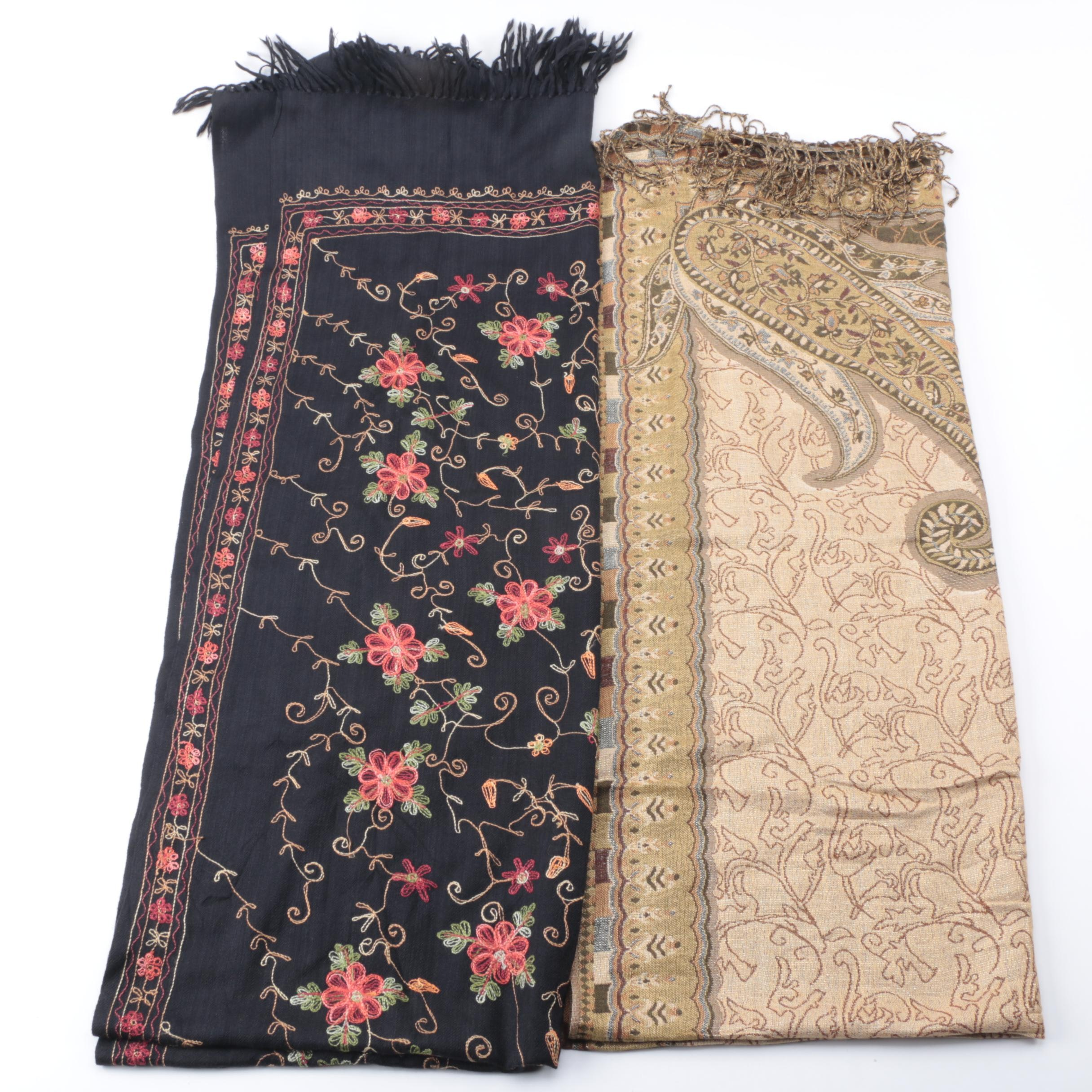 Two Scarves Including Pashmina