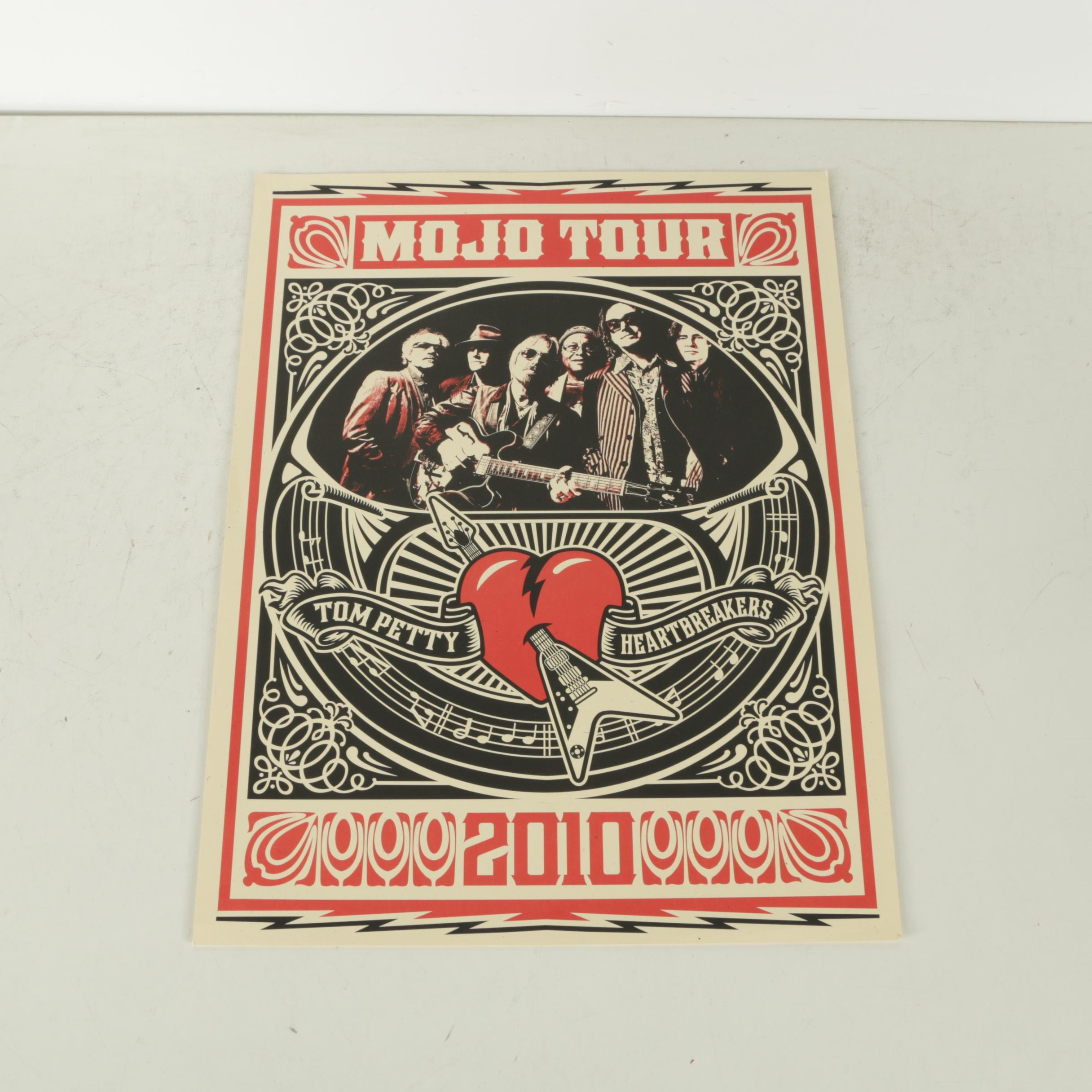 Tom Petty and the Heartbreakers 2010 Mojo Tour Poster