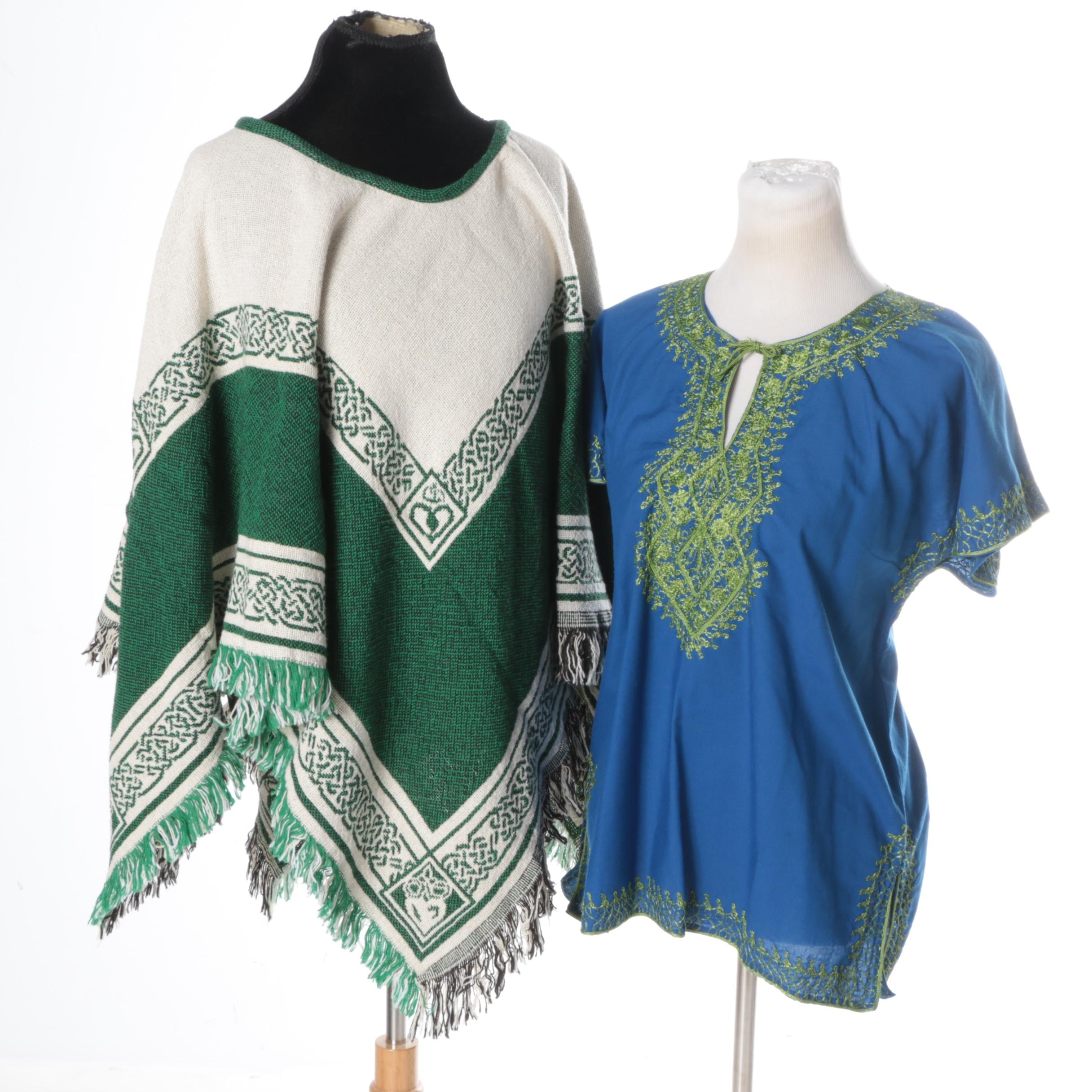 Celtic Inspired Poncho and Kaftan Tunic