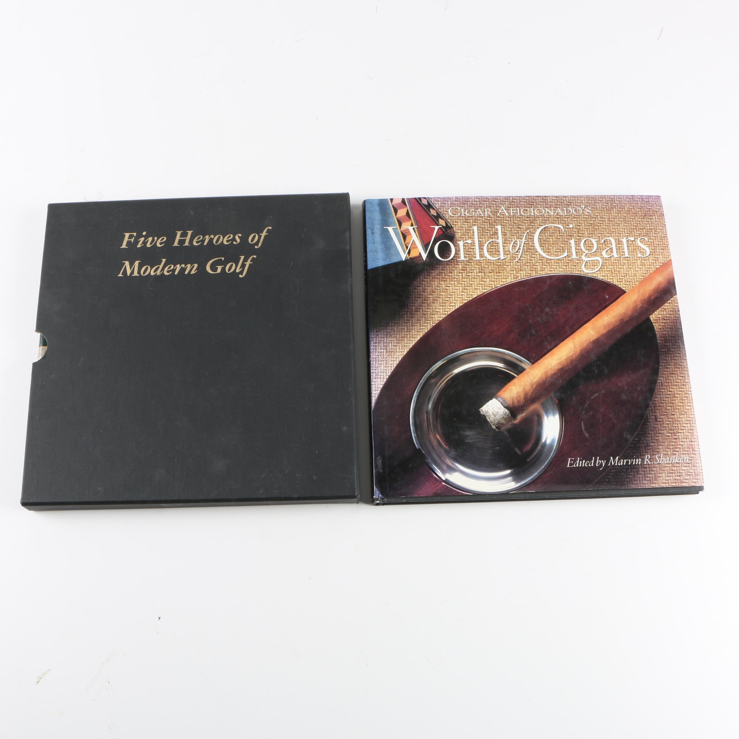 """Five Heroes of Modern Golf"" and ""Cigar Aficionado's World of Cigars"""
