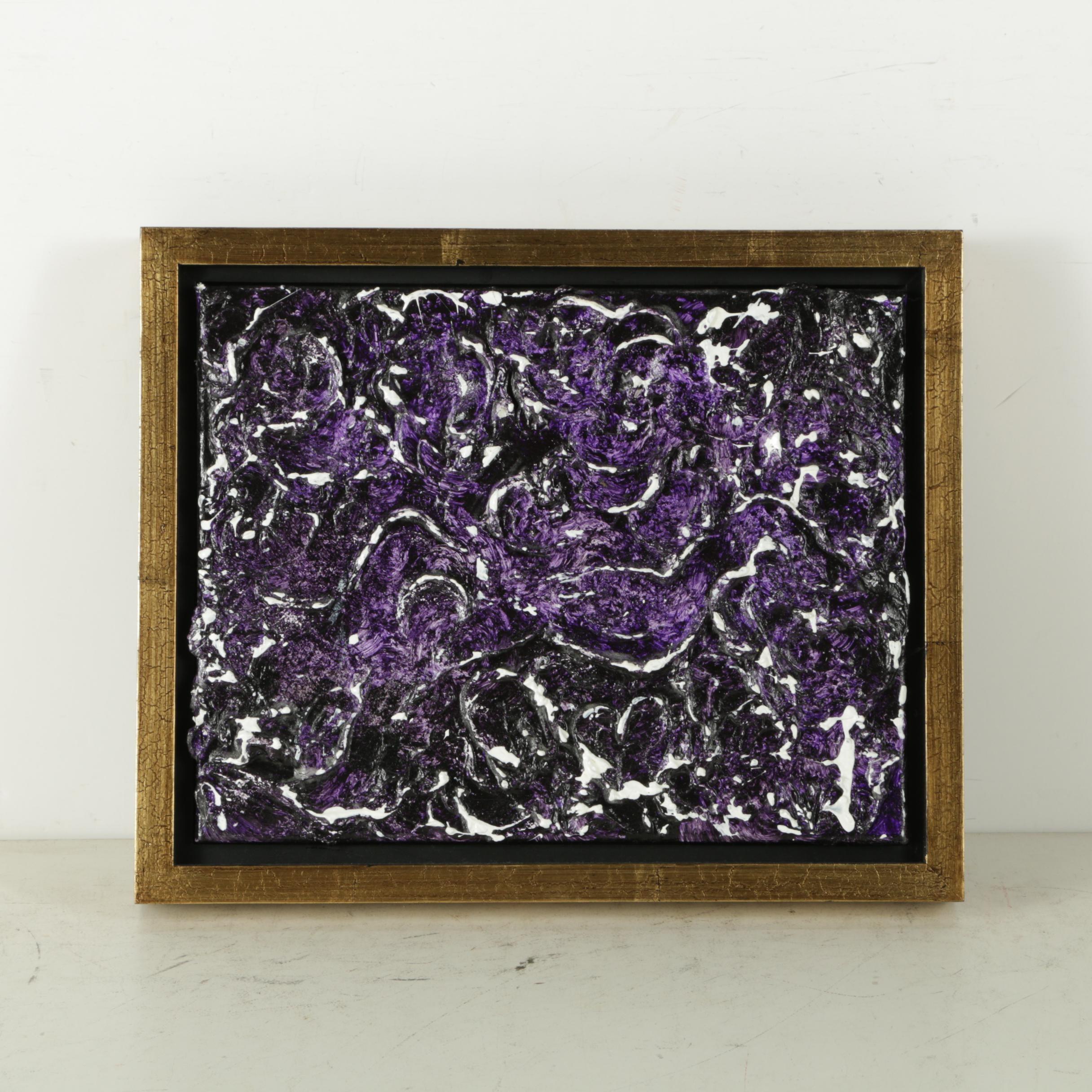 "Alys Caviness-Gober Acrylic Painting on Canvas ""Confetti"""