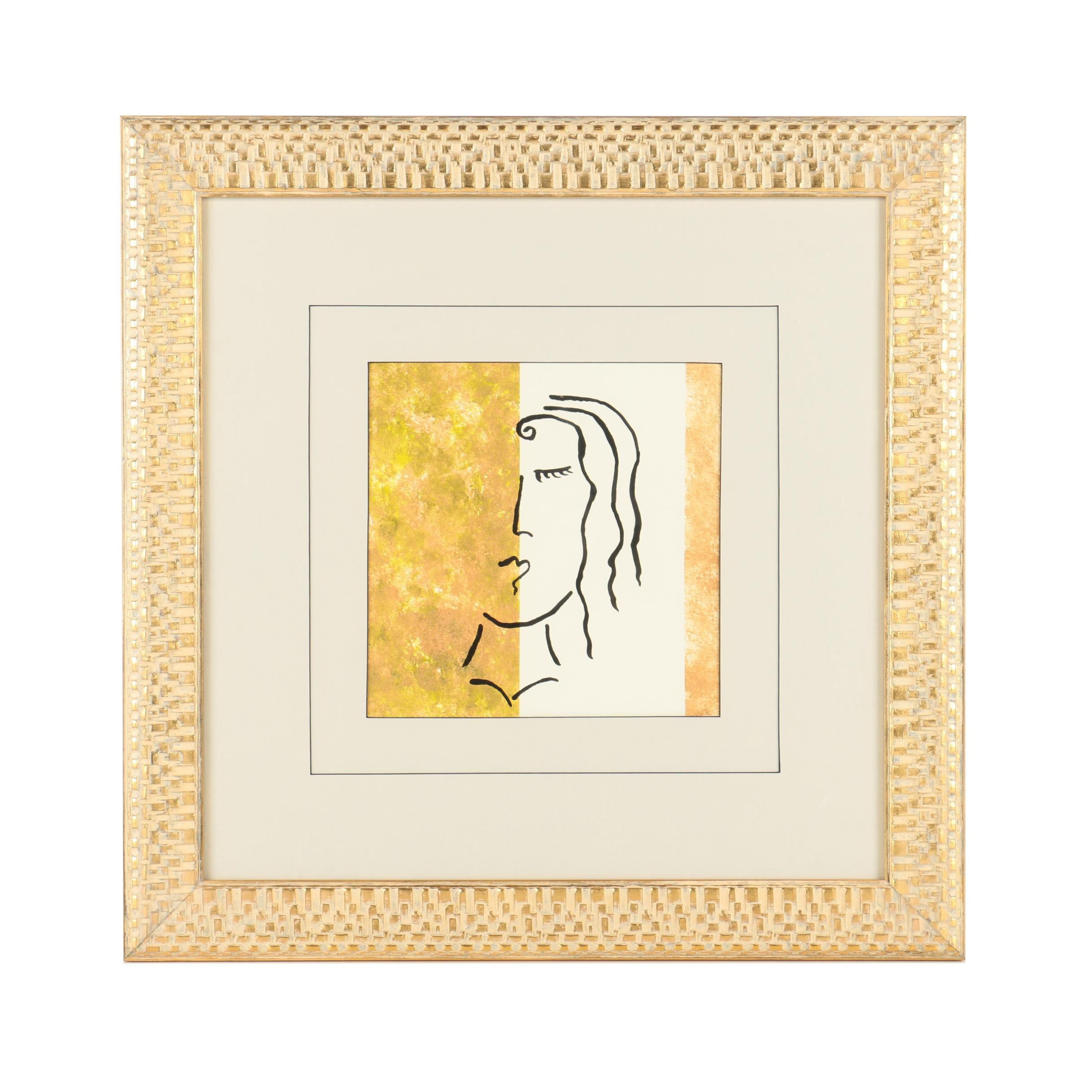 Serigraph Print of Woman's Face