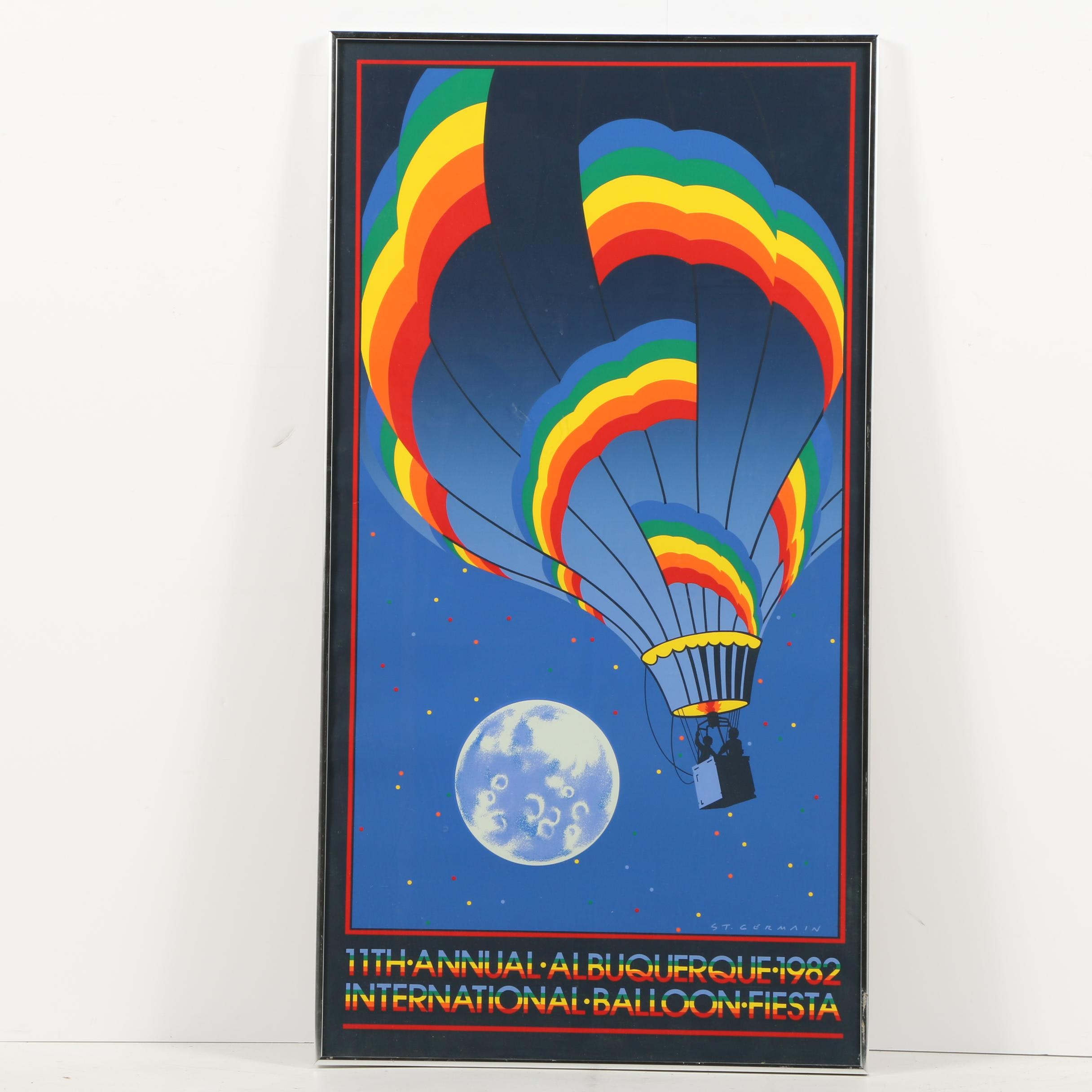 1982 Serigraph Poster for 11th Annual Albuquerque International Balloon Fiesta