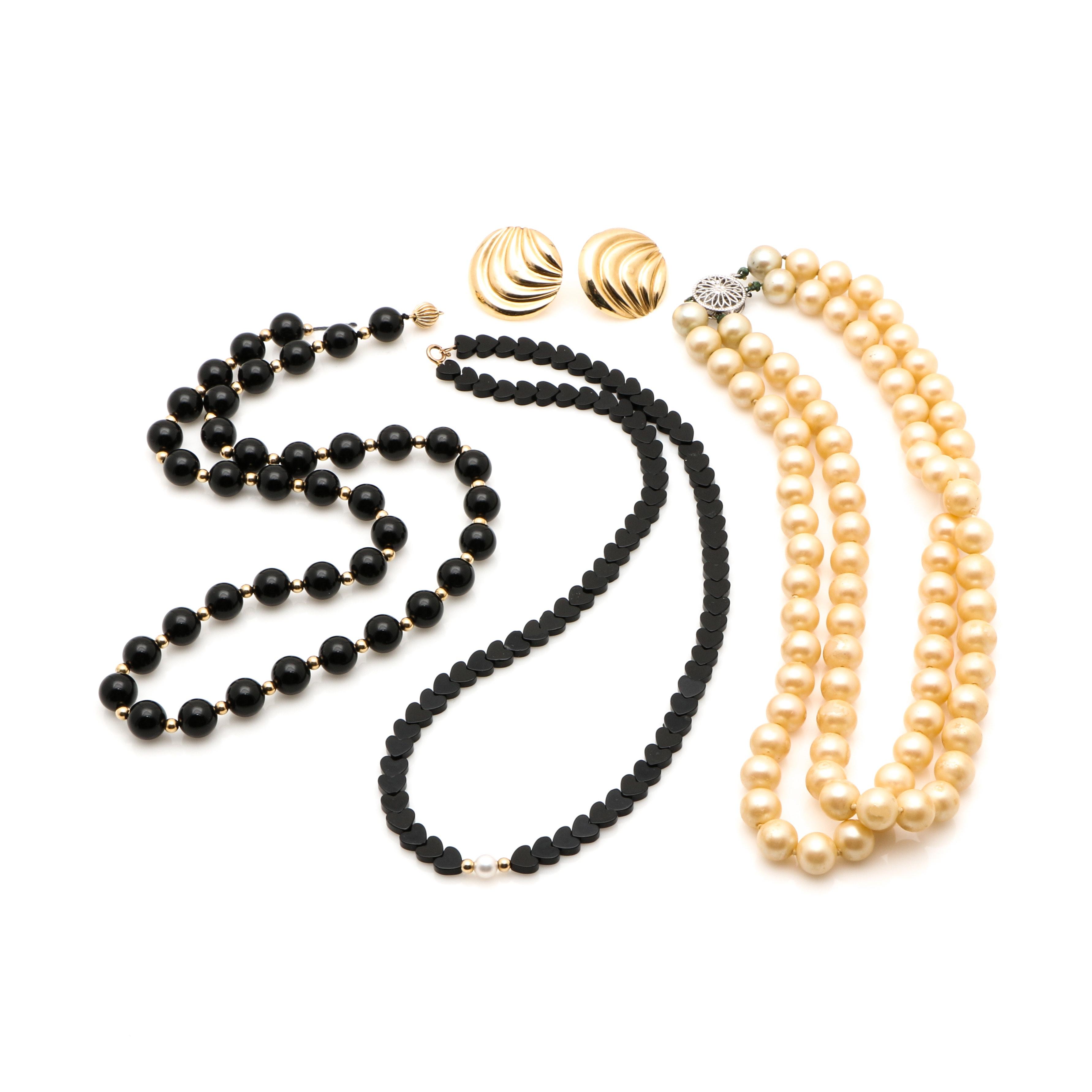 14K Yellow Gold and Gemstone Jewelry Assortment
