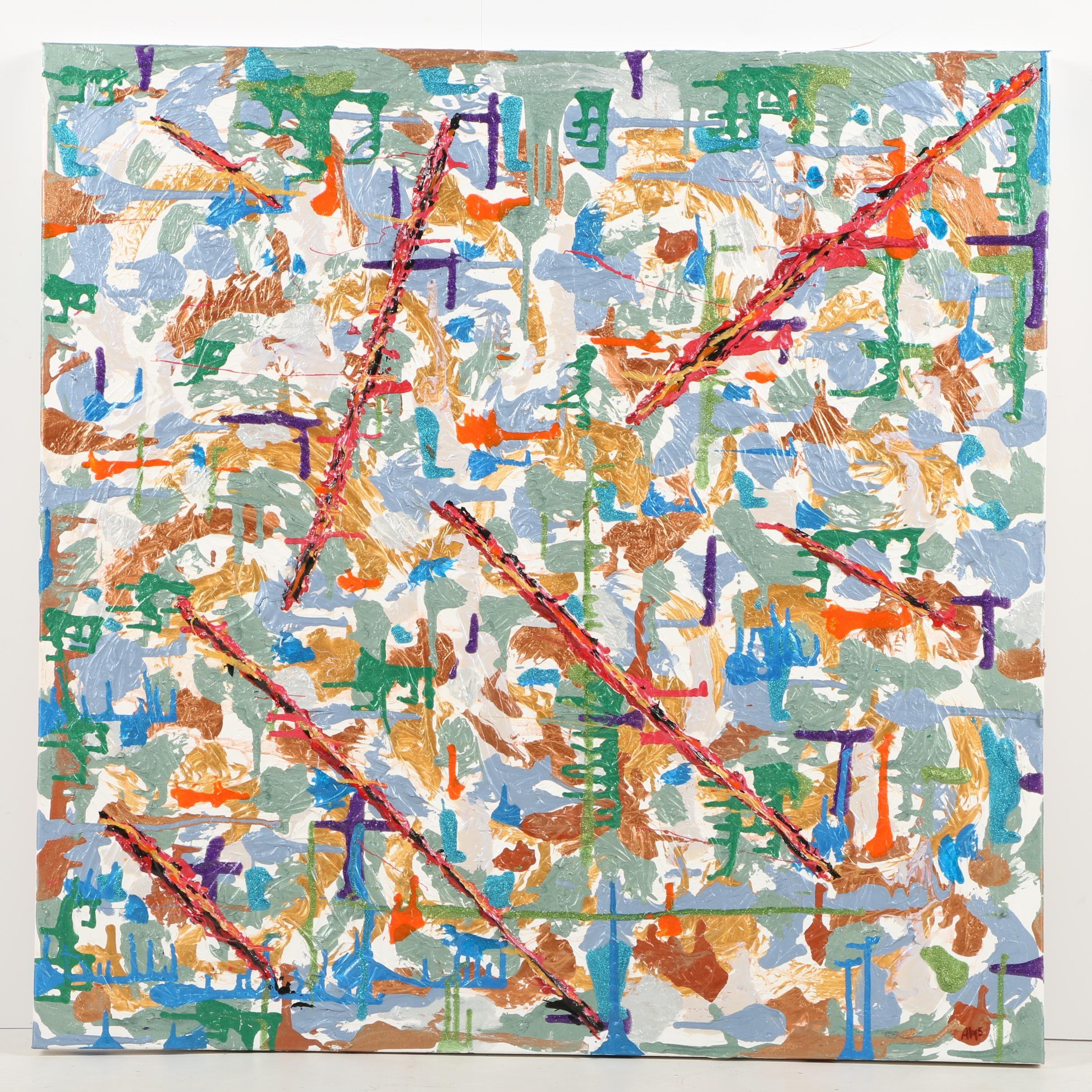 "Alys Caviness-Gober Acrylic Painting ""Inflammation"""