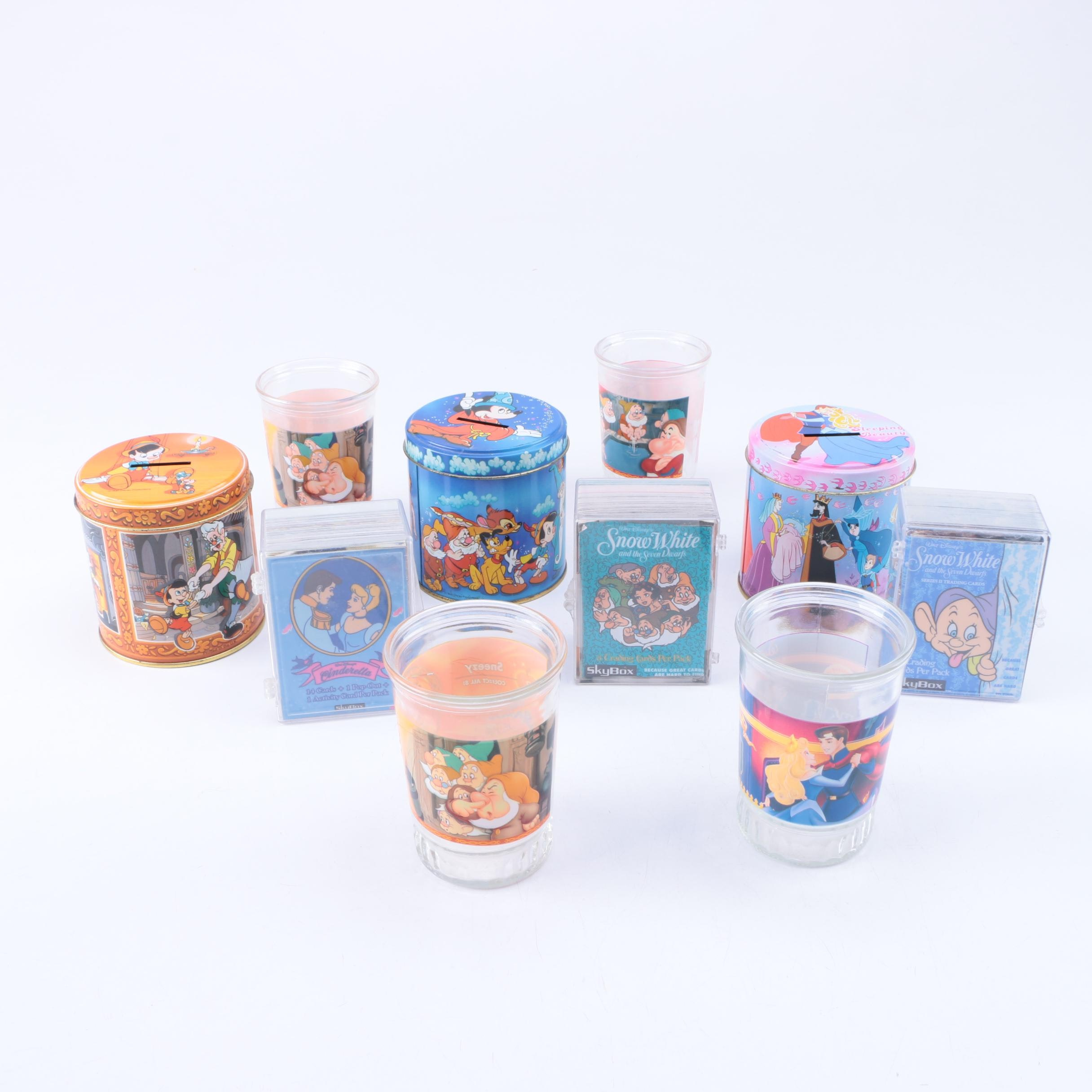 Walt Disney Coin Banks, Trading Cards and Other Memorabilia
