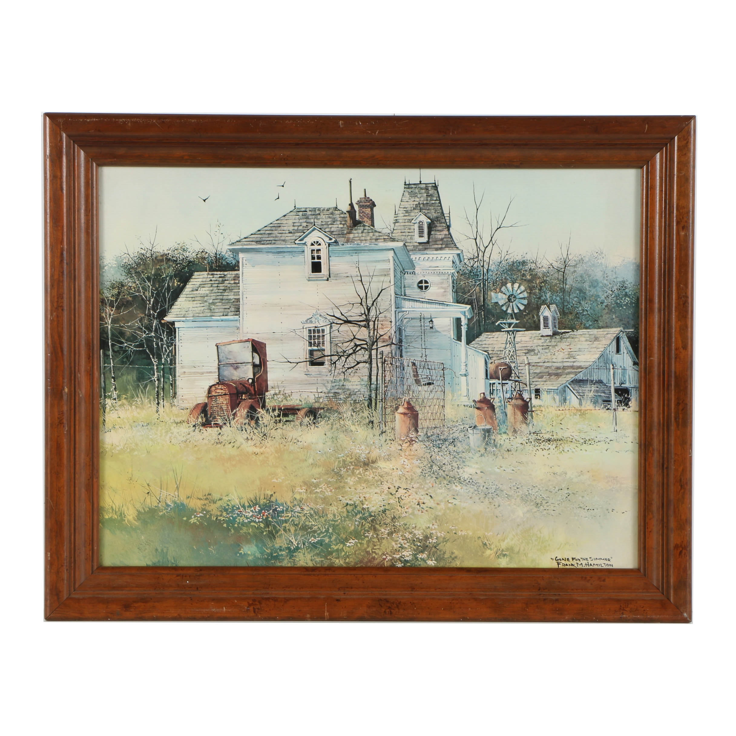 """Frank M. Hamilton Offset Lithograph after """"Gone For the Summer"""""""
